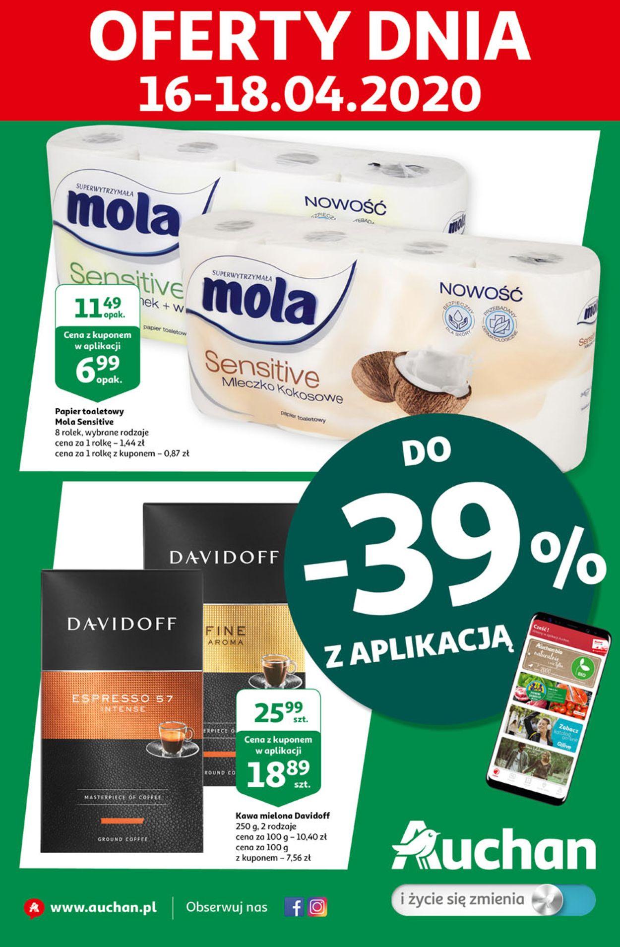 Gazetka promocyjna Auchan - 16.04-18.04.2020