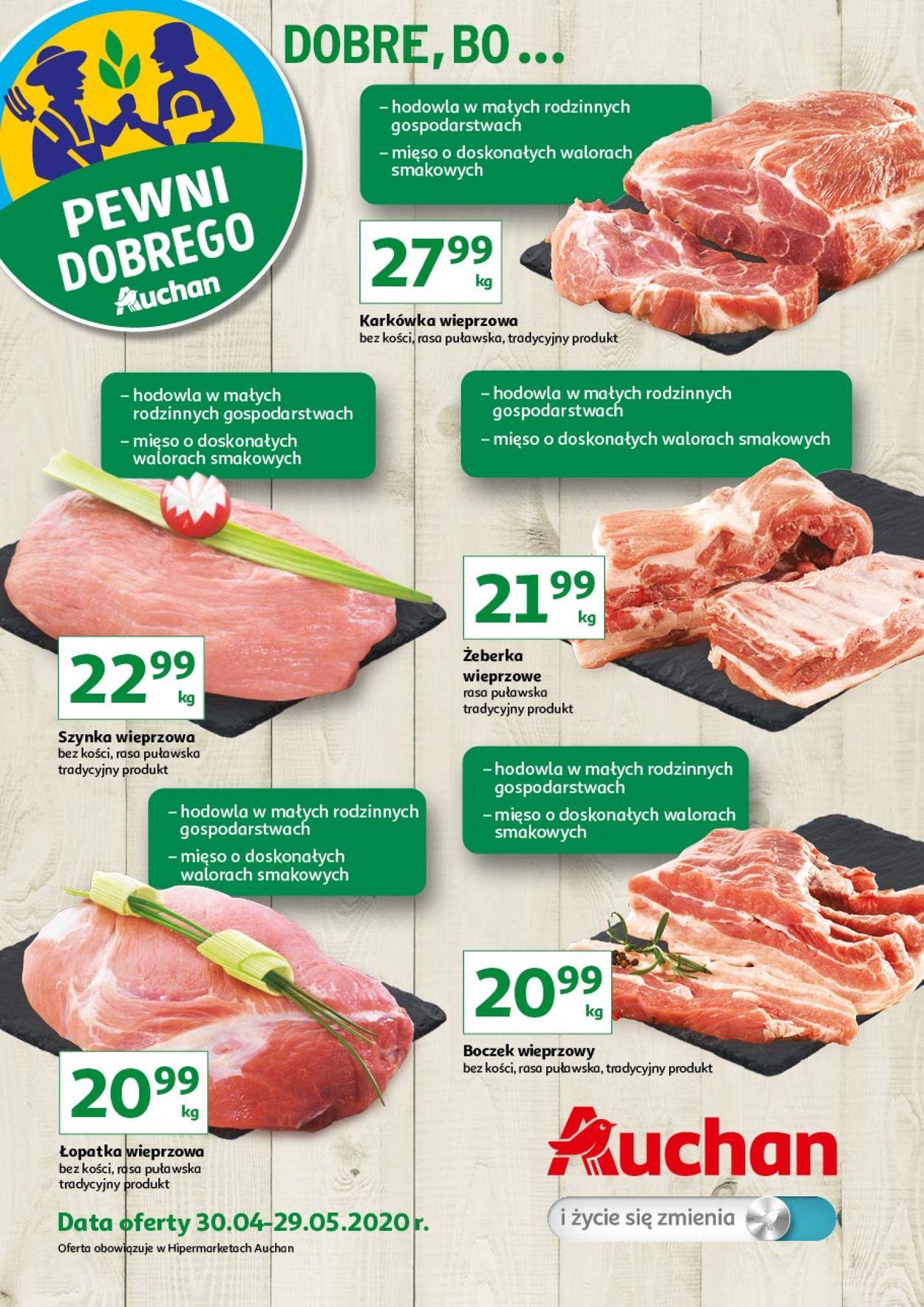 Gazetka promocyjna Auchan - 30.04-29.05.2020