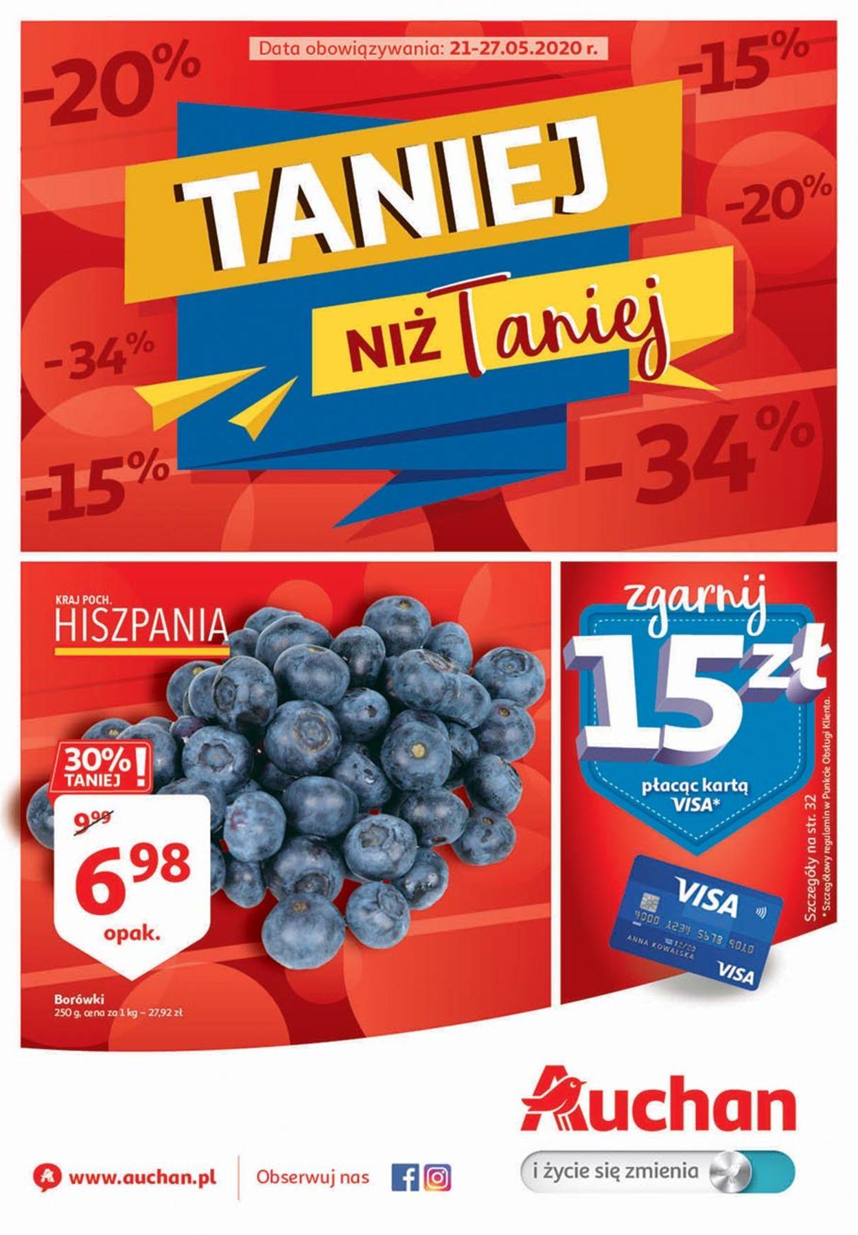Gazetka promocyjna Auchan - 21.05-27.05.2020