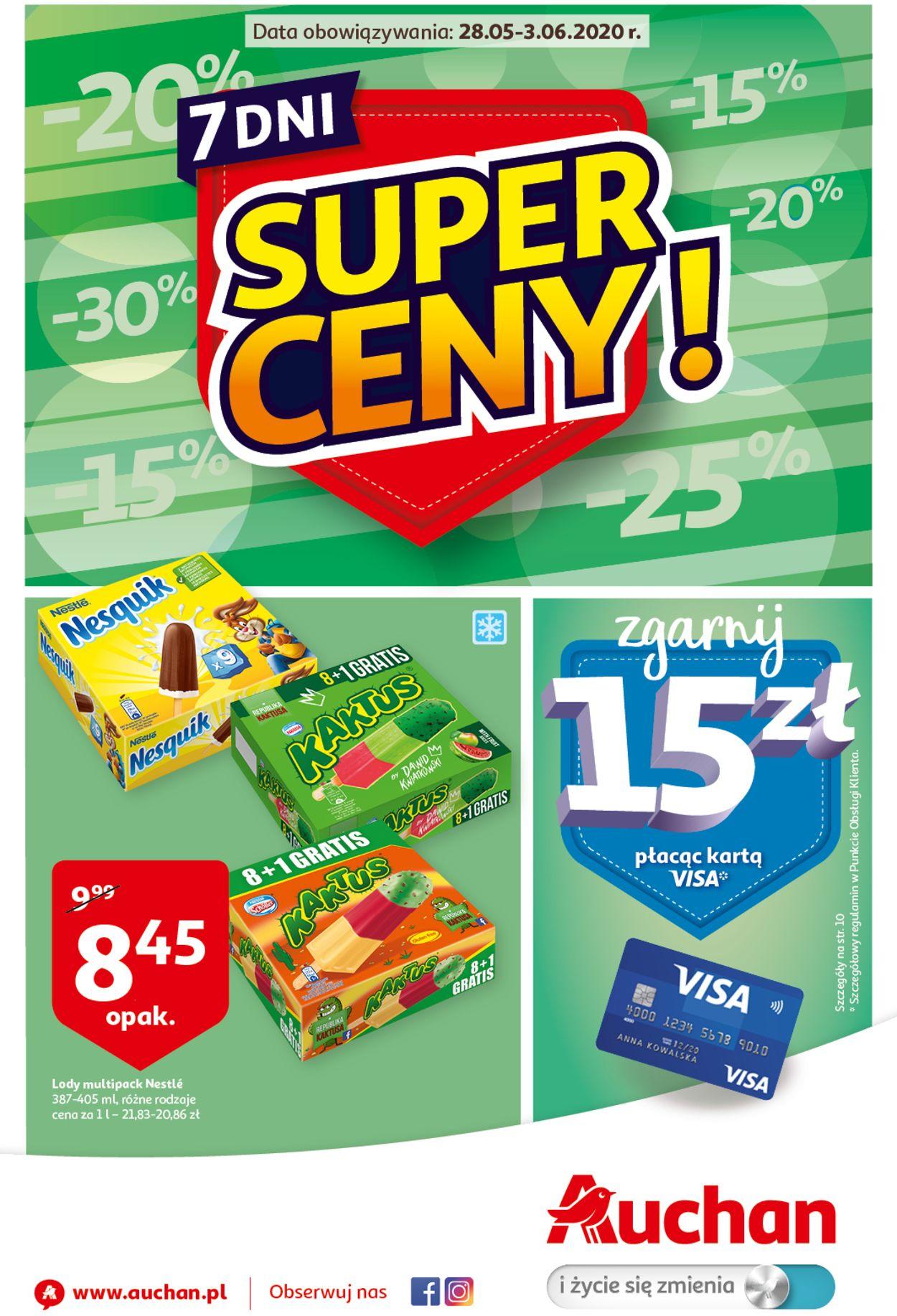 Gazetka promocyjna Auchan - 28.05-03.06.2020