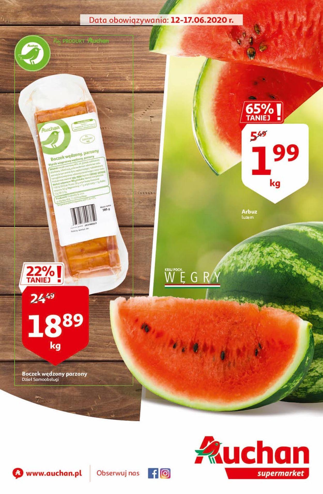Gazetka promocyjna Auchan - 12.06-17.06.2020