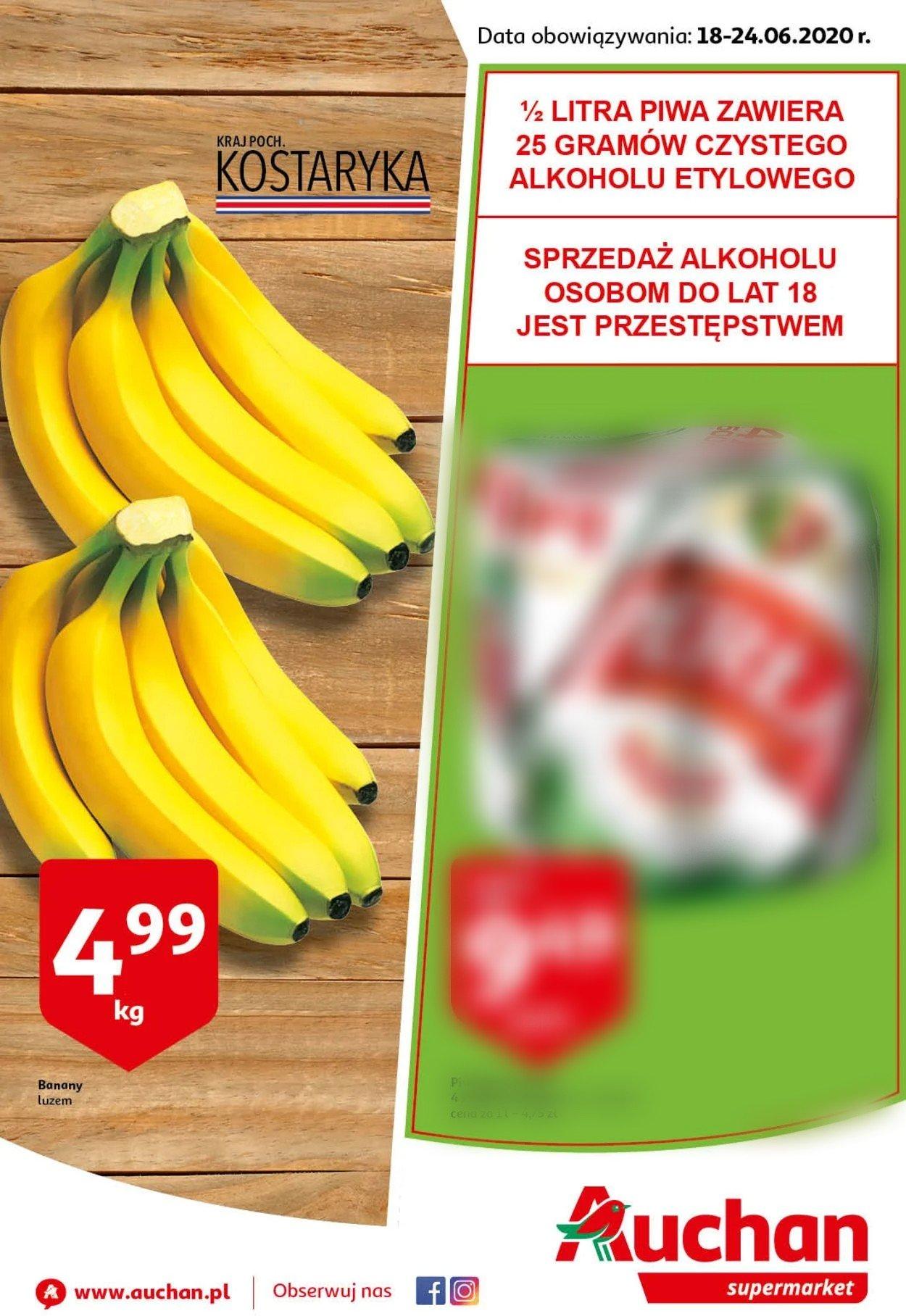 Gazetka promocyjna Auchan - 18.06-24.06.2020