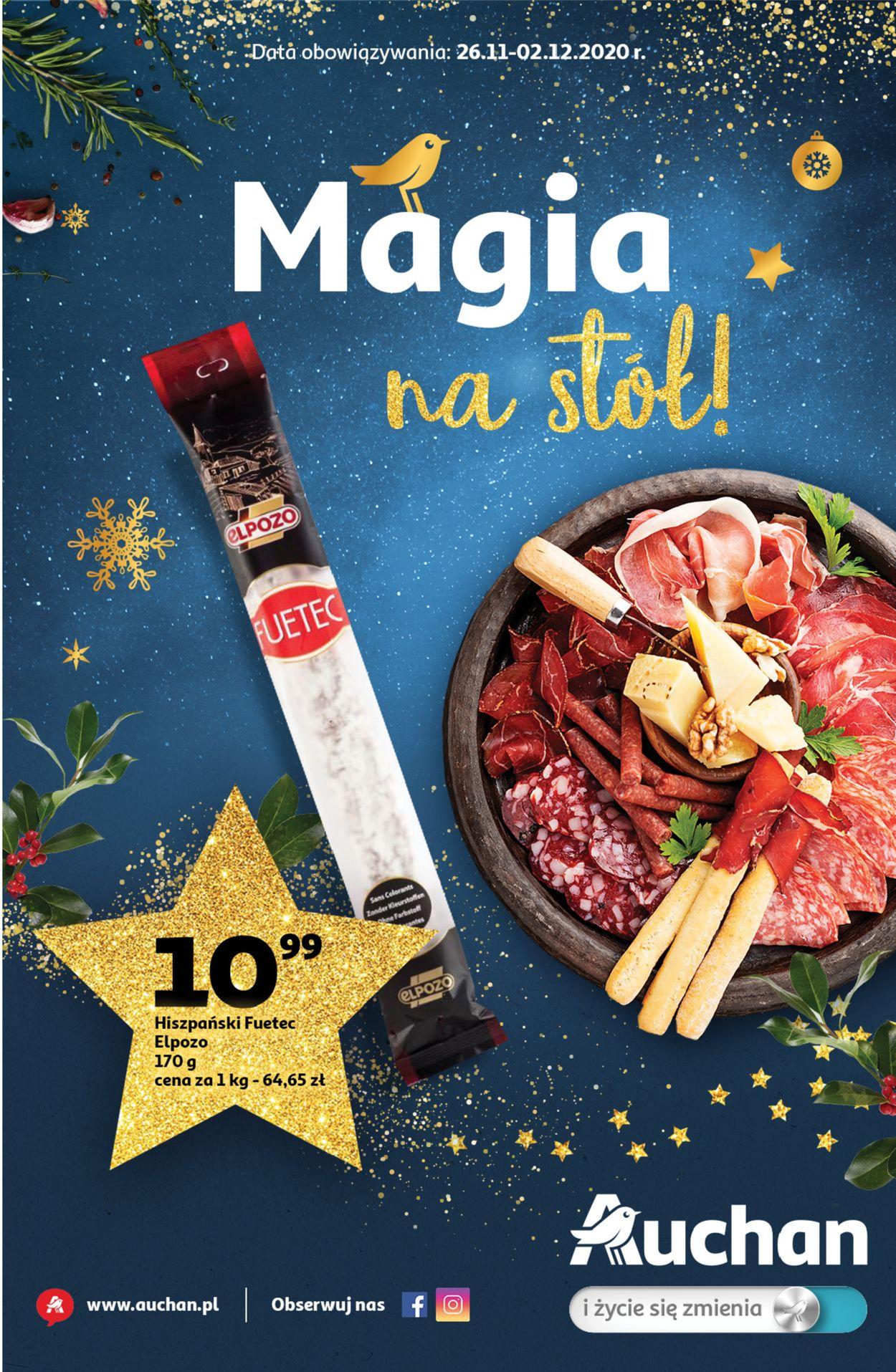 Gazetka promocyjna Auchan Gazetka Świąteczna 2020 - 26.11-02.12.2020
