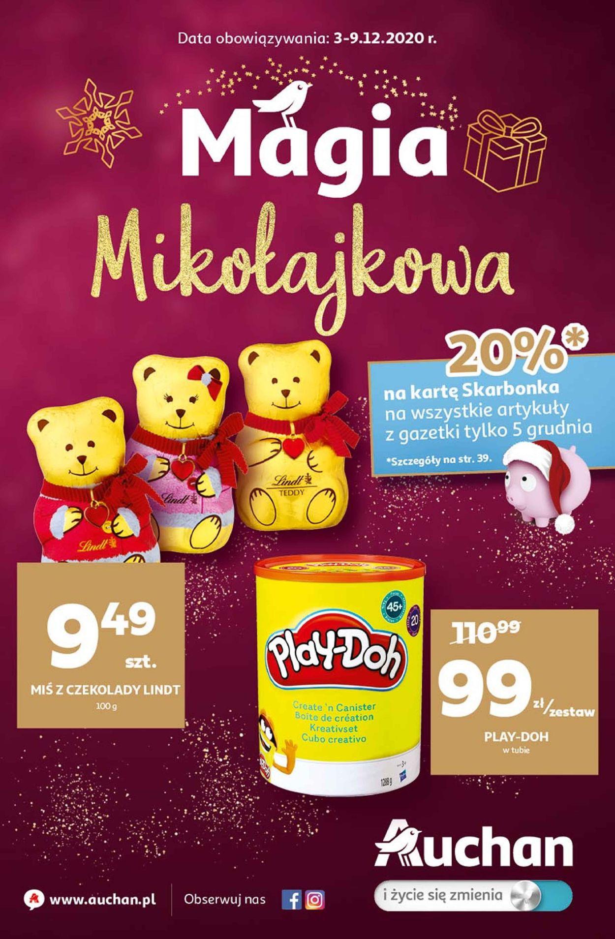 Gazetka promocyjna Auchan Gazetka Świąteczna 2020 - 03.12-09.12.2020