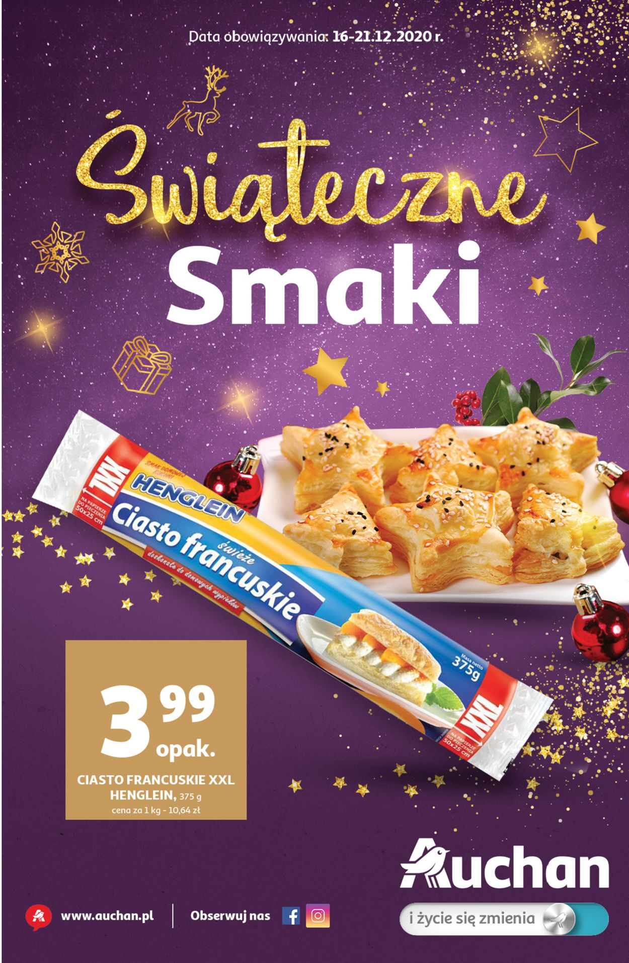Gazetka promocyjna Auchan Gazetka Świąteczna 2020 - 16.12-21.12.2020