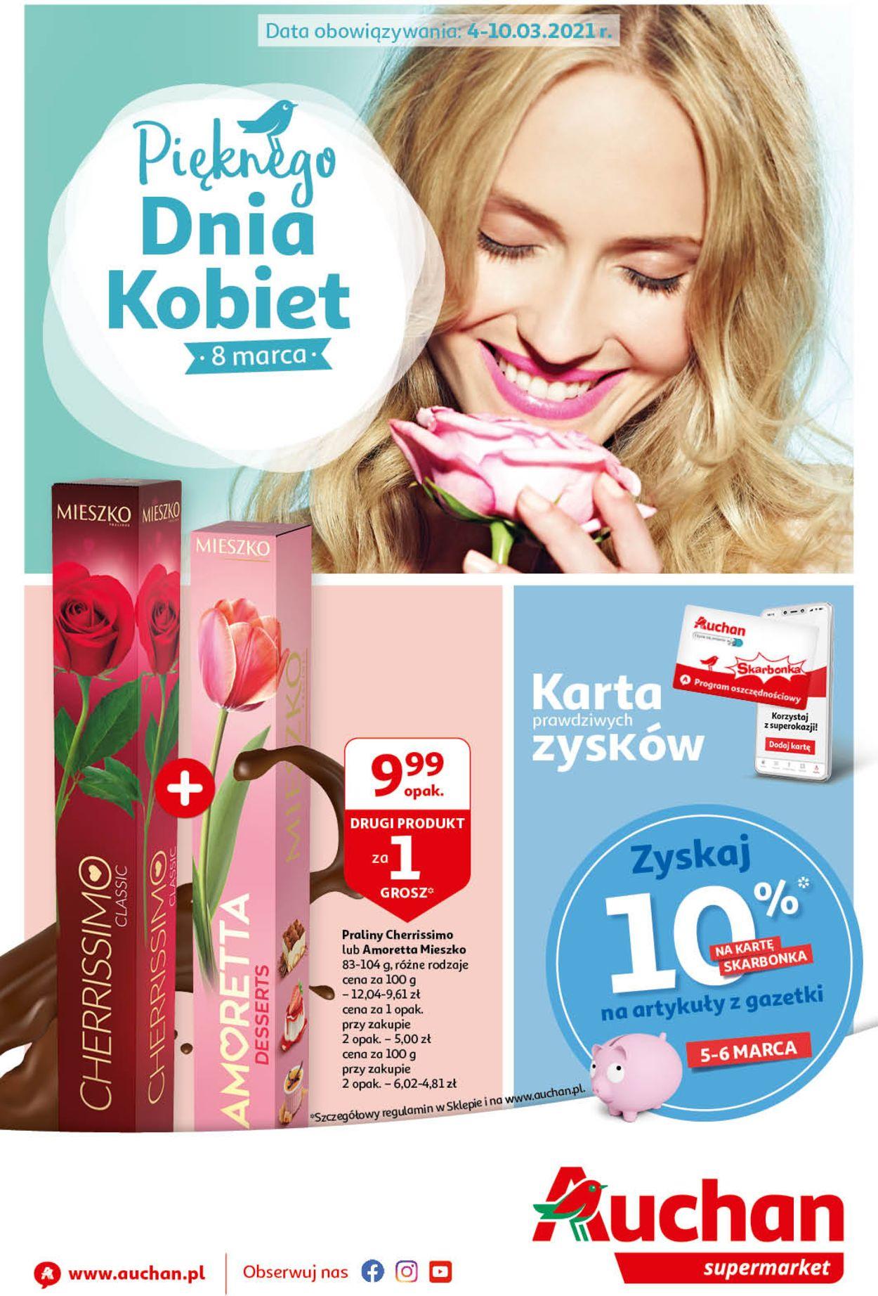 Gazetka promocyjna Auchan Dzień Kobiet 2021 - 04.03-10.03.2021
