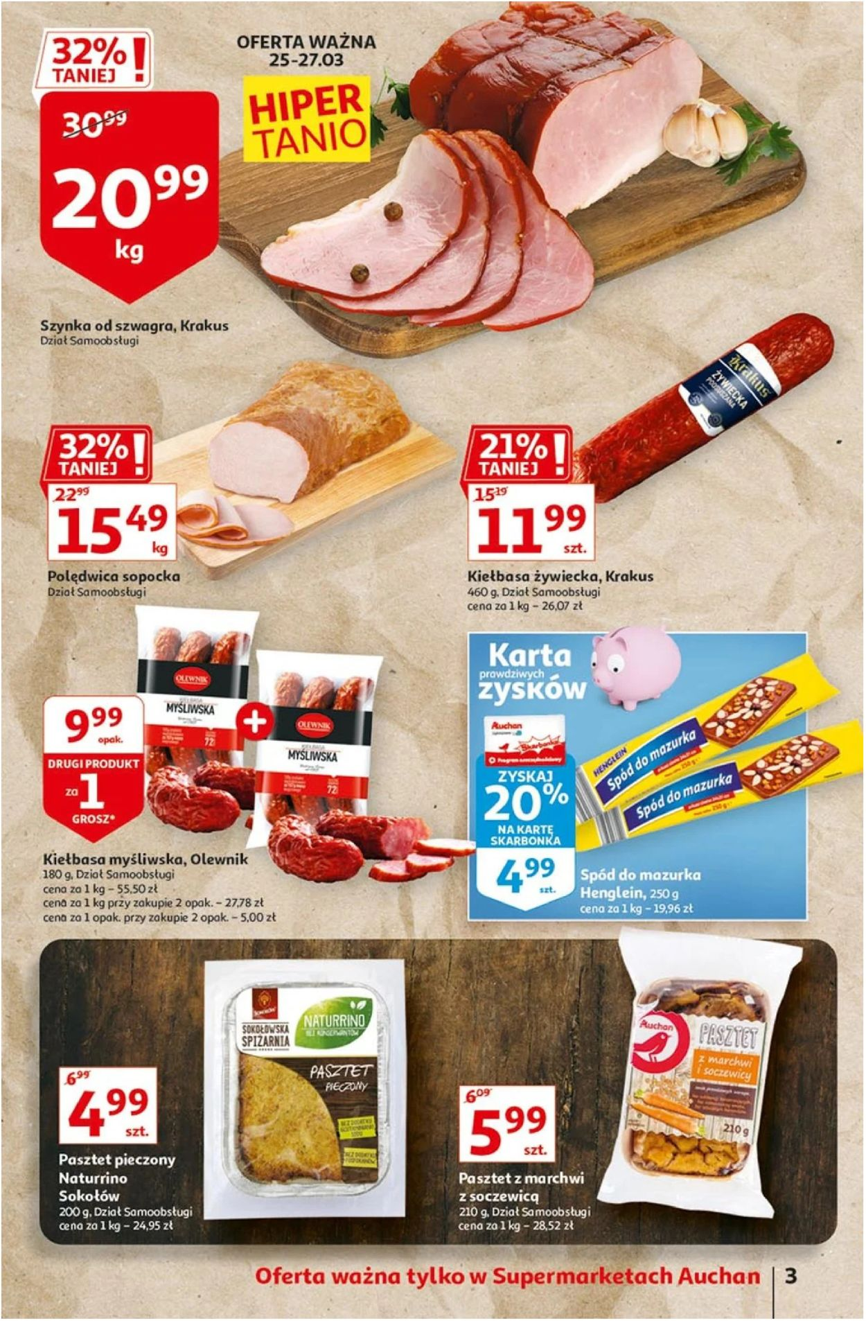 Gazetka promocyjna Auchan Wielkanoc 2021! - 25.03-03.04.2021 (Strona 3)