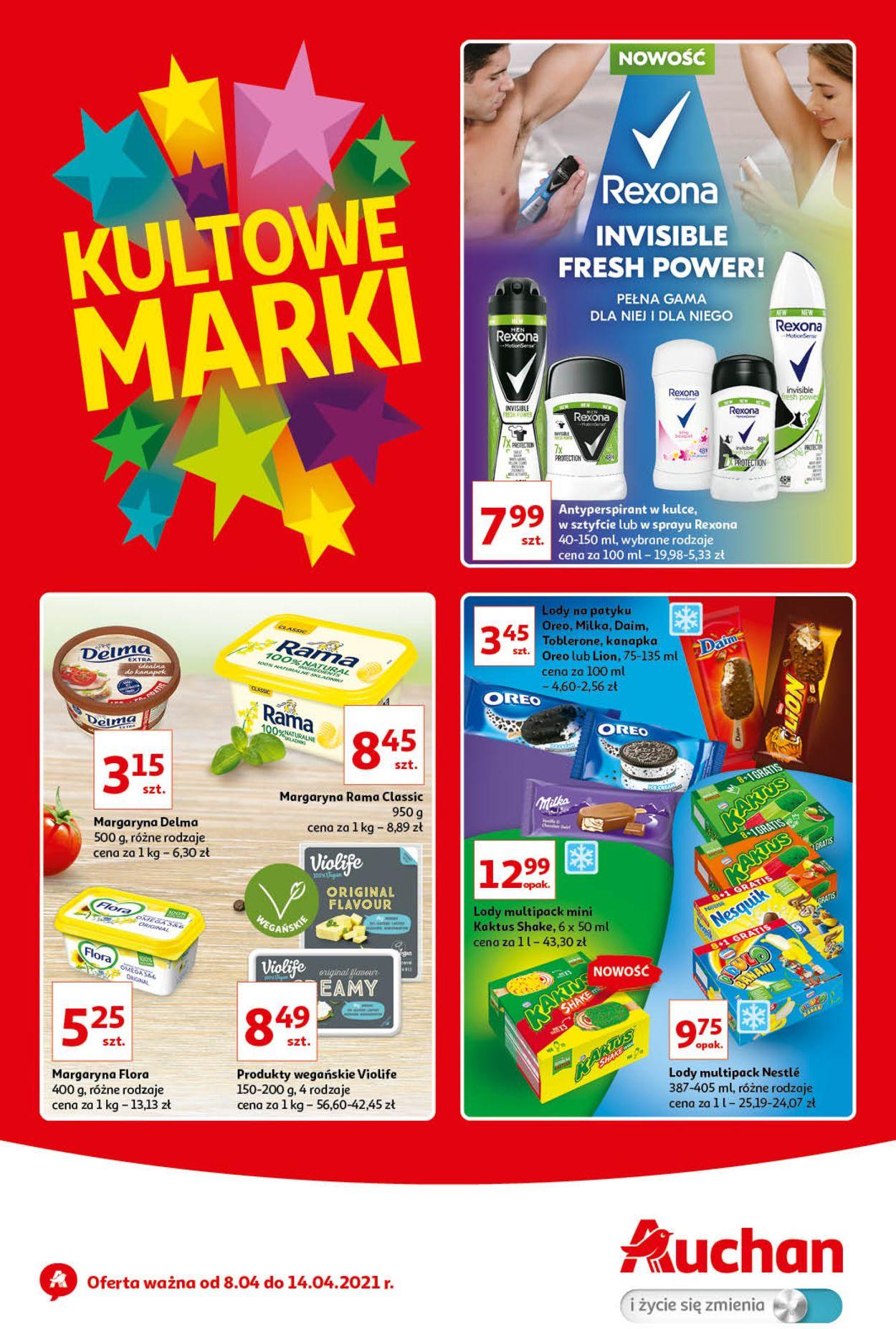 Gazetka promocyjna Auchan Kultowe marki Hipermarkety - 08.04-14.04.2021