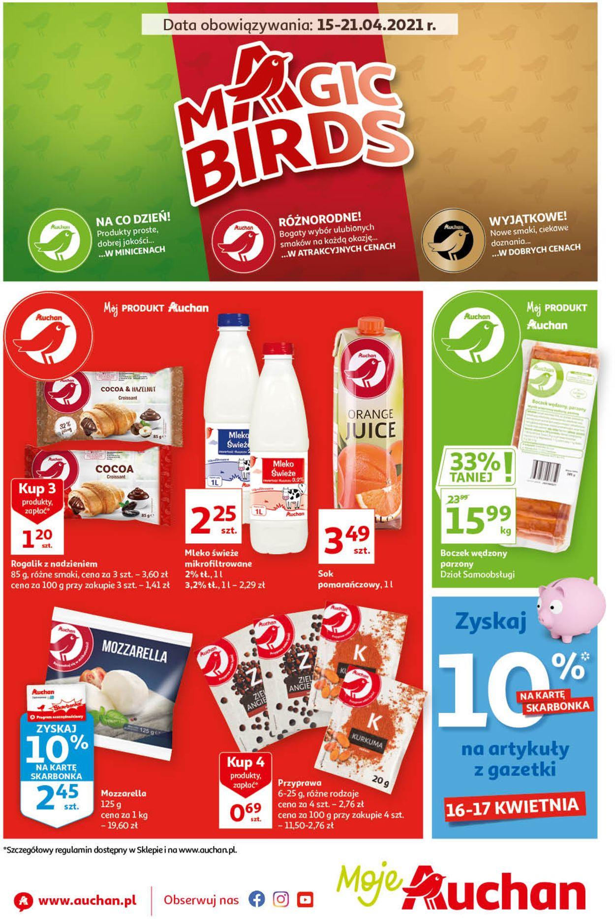 Gazetka promocyjna Auchan Magic Birds Moje Auchan - 15.04-21.04.2021