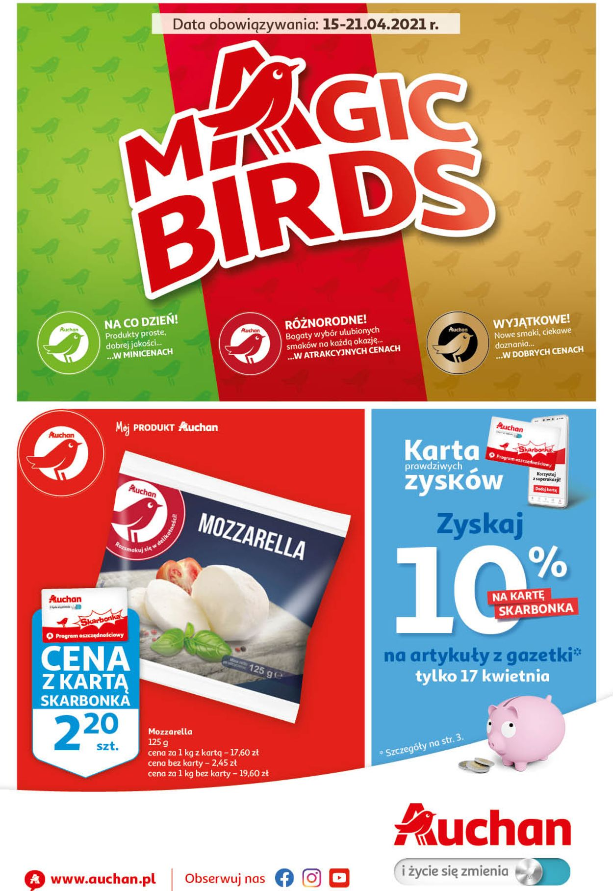 Gazetka promocyjna Auchan Magic Birds Hipermarkety - 15.04-21.04.2021
