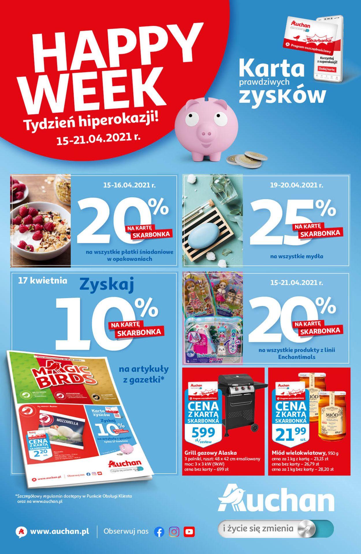 Gazetka promocyjna Auchan - 15.04-21.04.2021
