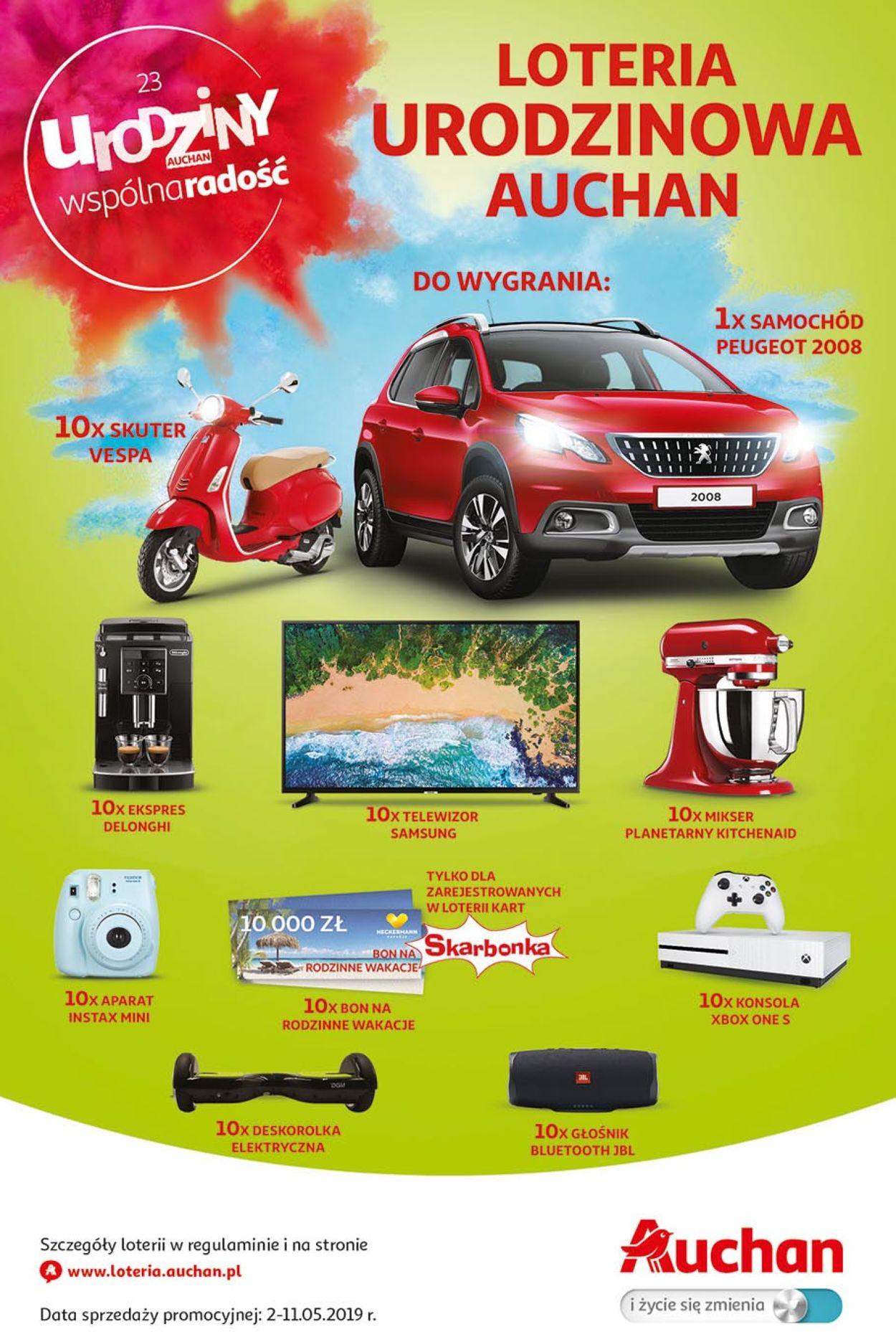 Gazetka promocyjna Auchan - 02.05-11.05.2019