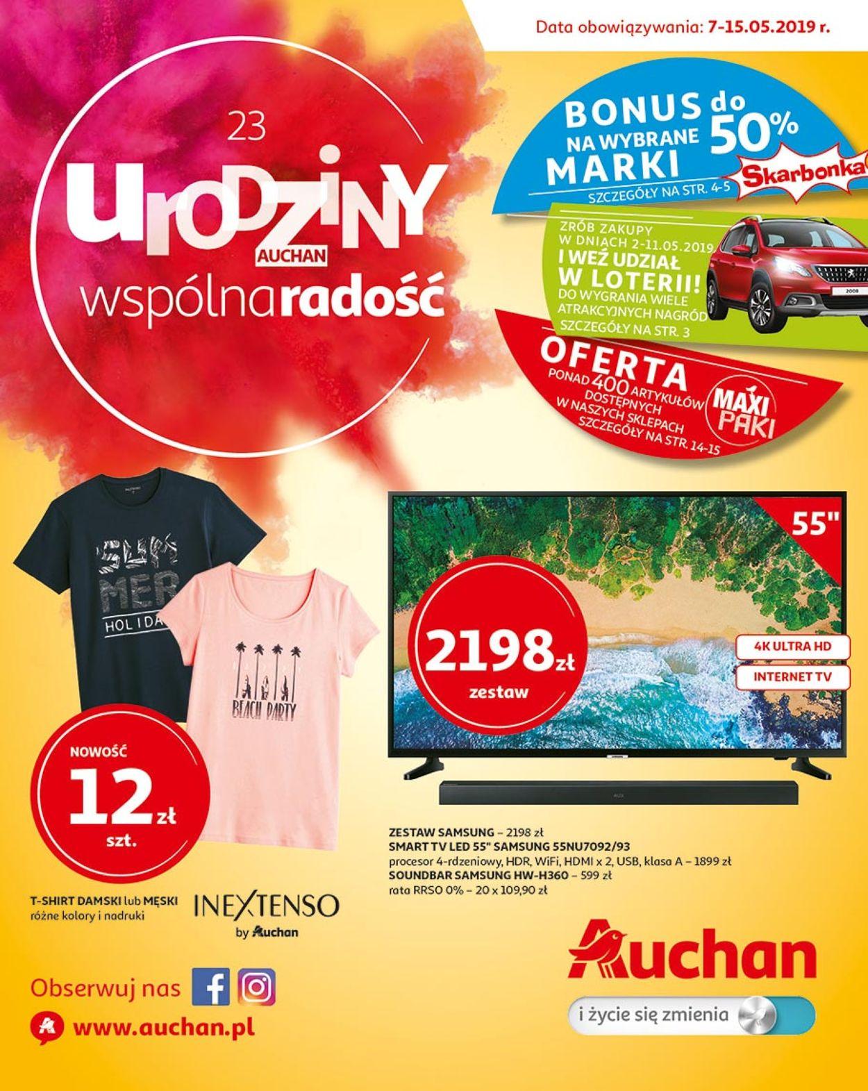 Gazetka promocyjna Auchan - 07.05-15.05.2019