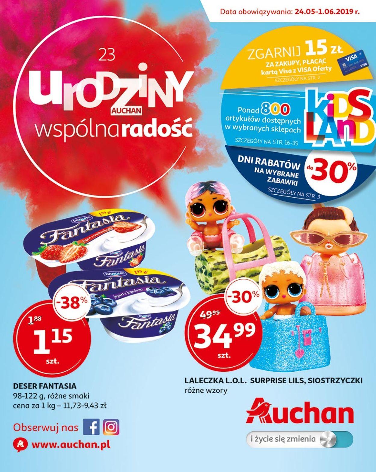 Gazetka promocyjna Auchan - 24.05-01.06.2019