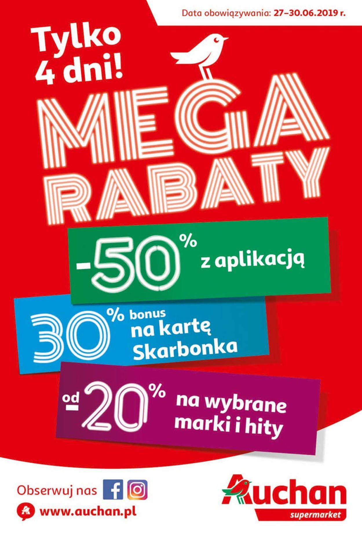 Gazetka promocyjna Auchan - 27.06-30.06.2019