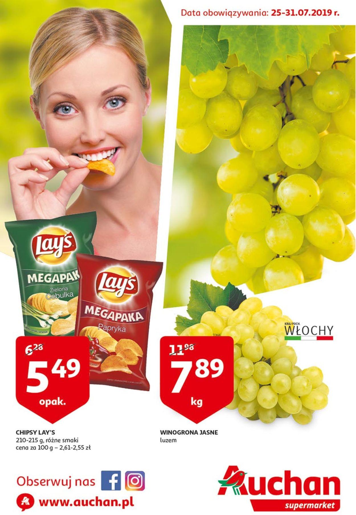 Gazetka promocyjna Auchan - 25.07-31.07.2019