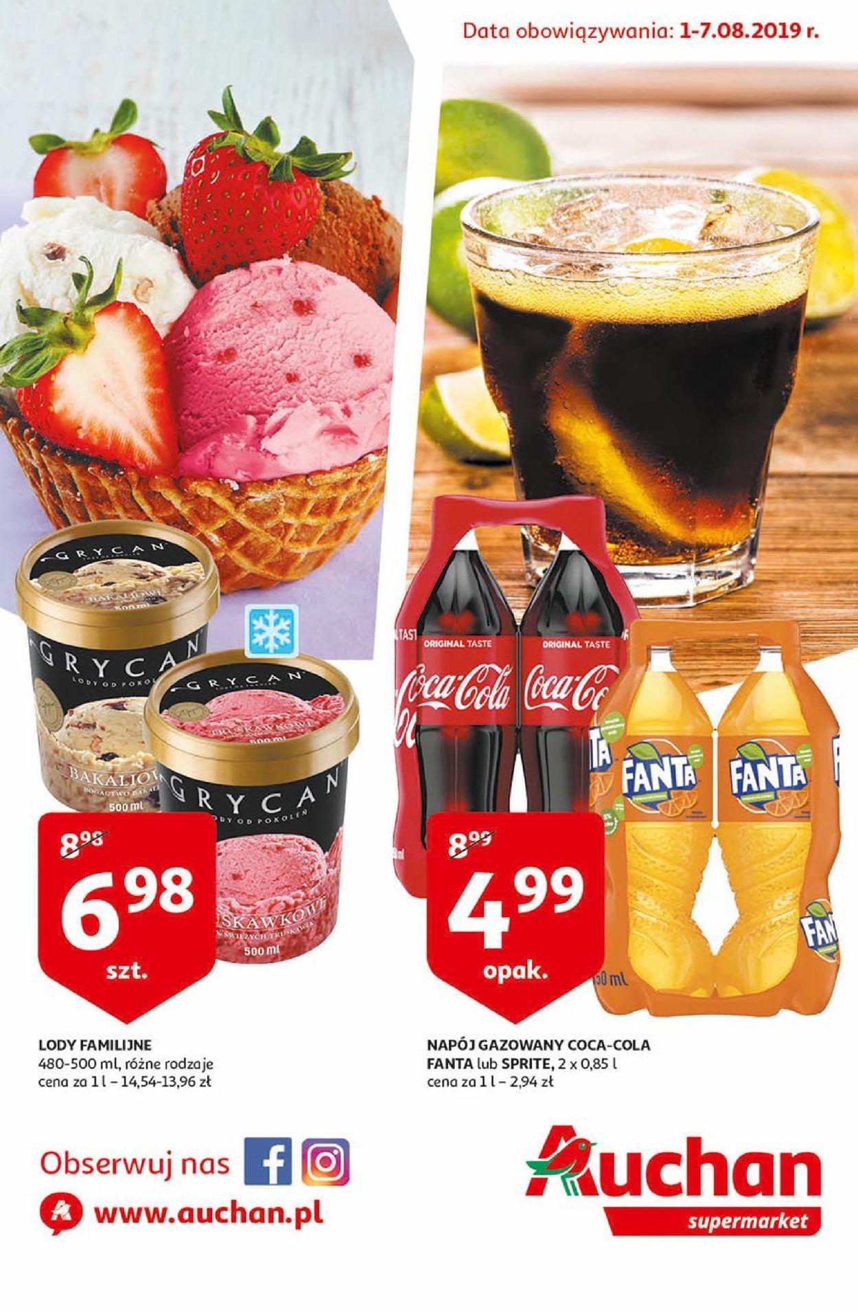 Gazetka promocyjna Auchan - 01.08-07.08.2019