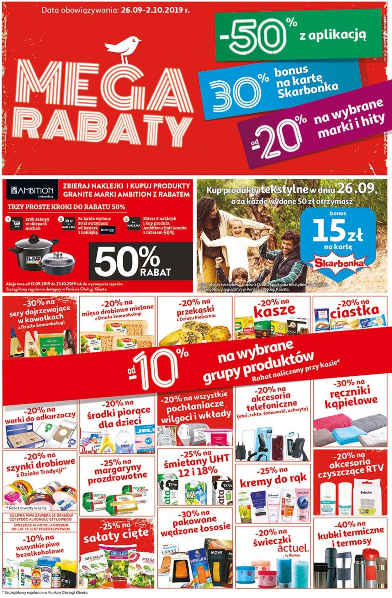 Gazetka promocyjna Auchan - 26.09-02.10.2019