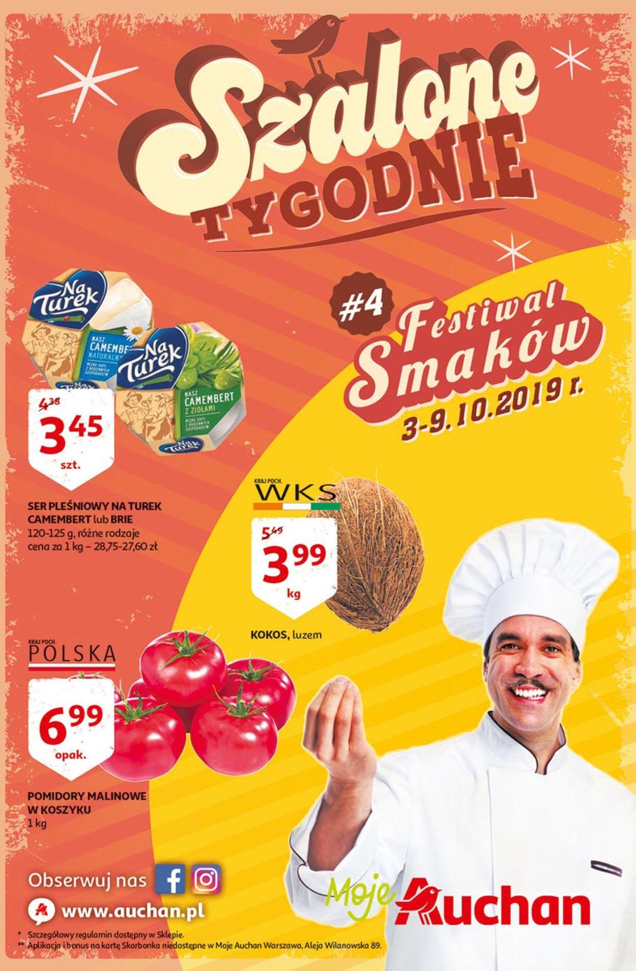 Gazetka promocyjna Auchan - 03.10-09.10.2019
