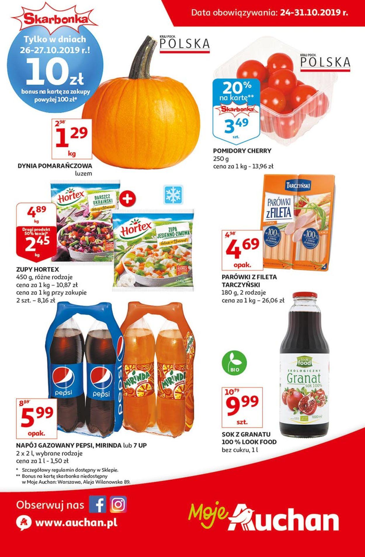 Gazetka promocyjna Auchan - 24.10-31.10.2019