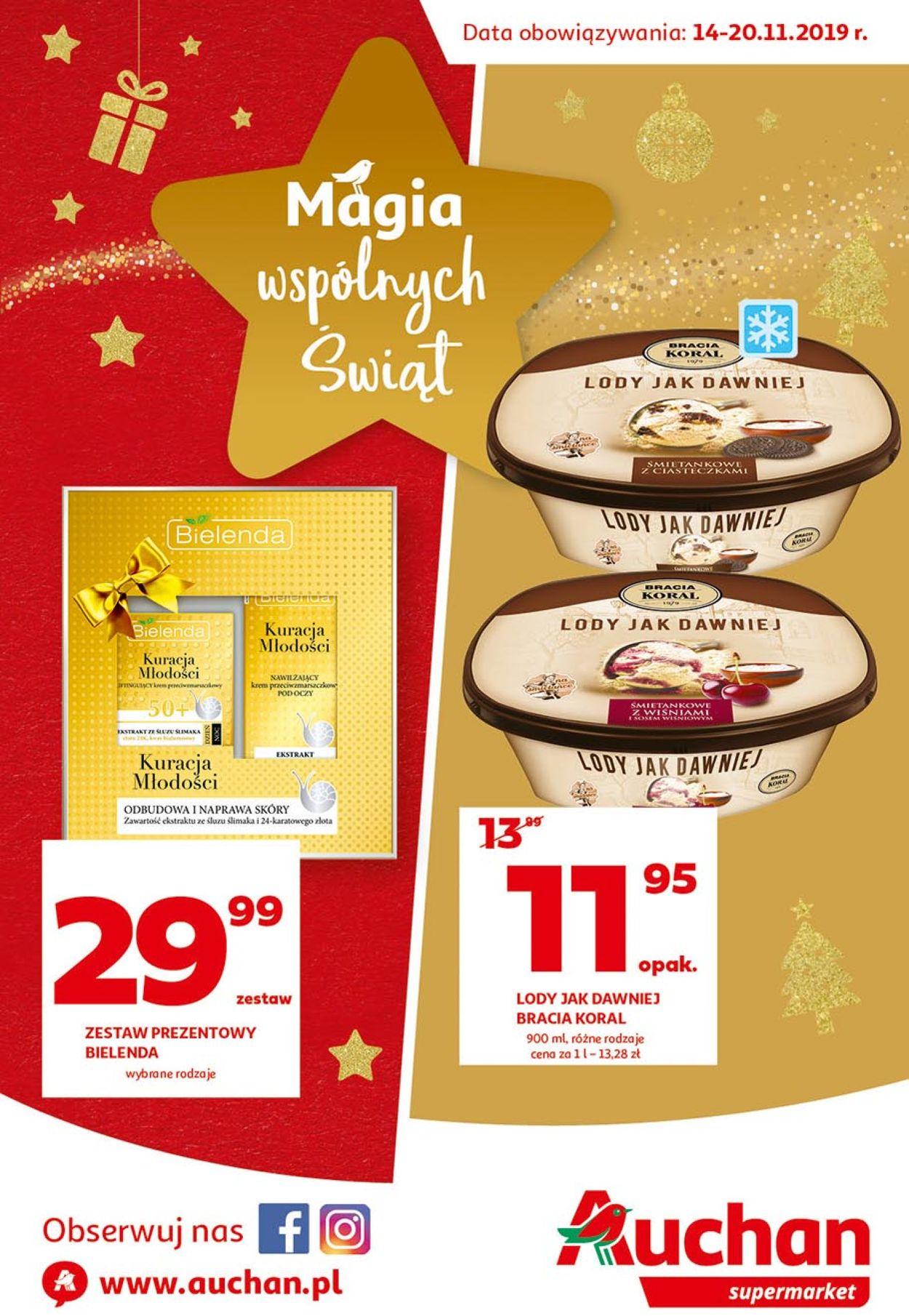 Gazetka promocyjna Auchan - Gazetka Świąteczna 2019 - 14.11-20.11.2019
