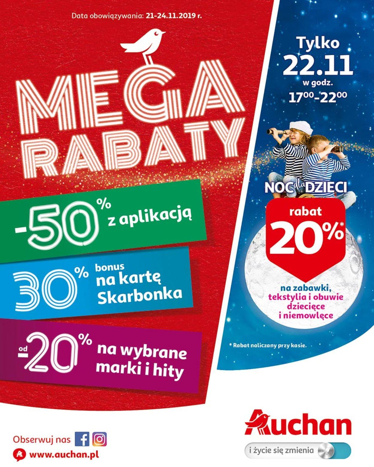 Gazetka promocyjna Auchan - 21.11-24.11.2019