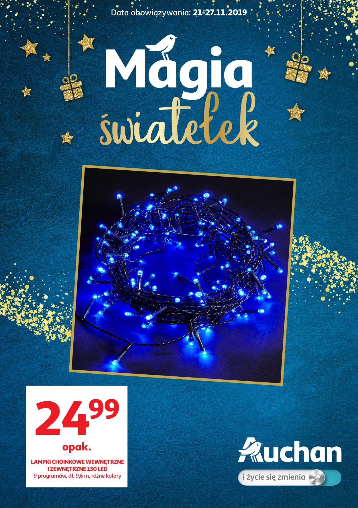 Gazetka promocyjna Auchan - Gazetka Świąteczna 2019 - 21.11-27.11.2019