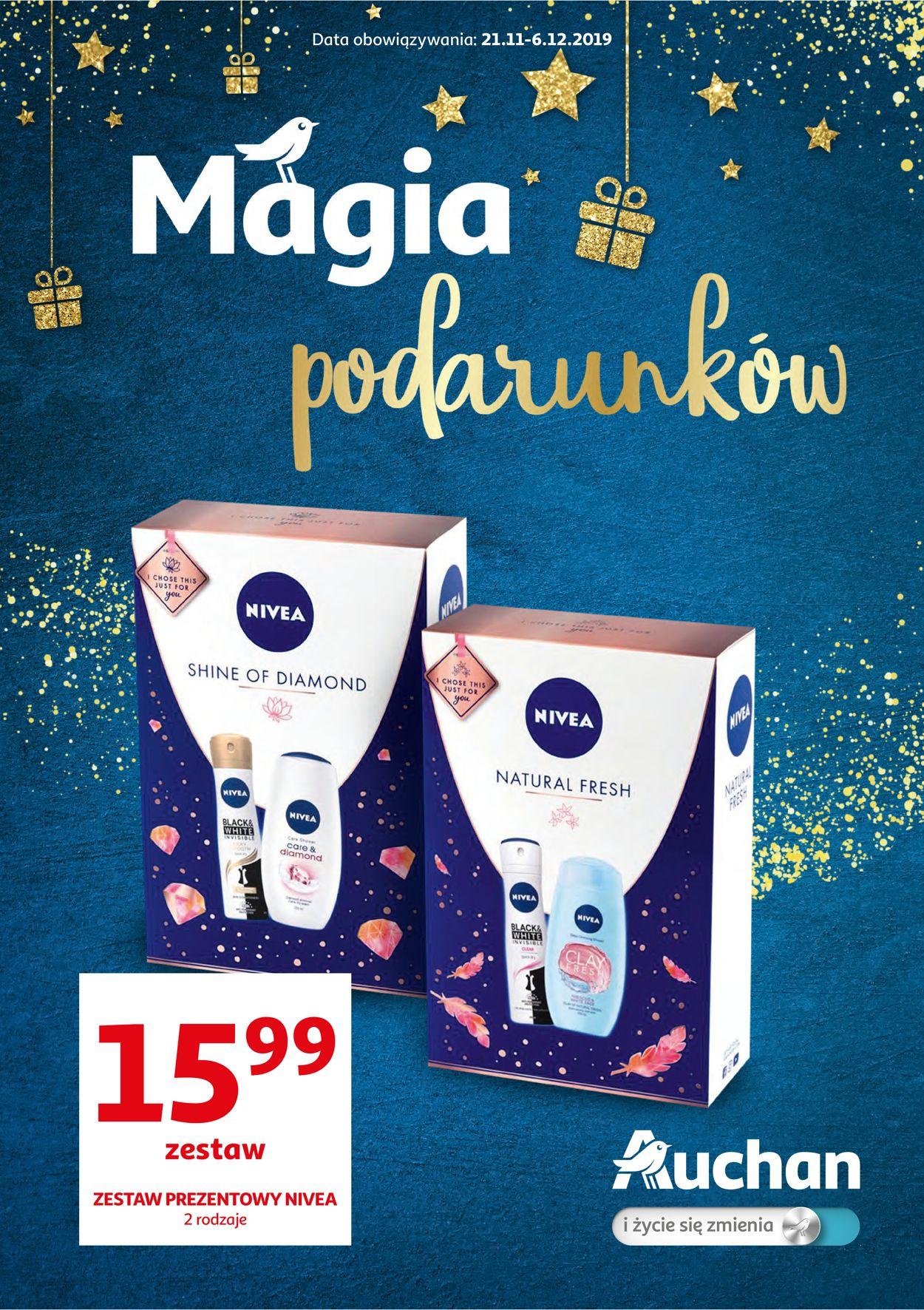 Gazetka promocyjna Auchan - Magia podarunków 2019 - 21.11-06.12.2019