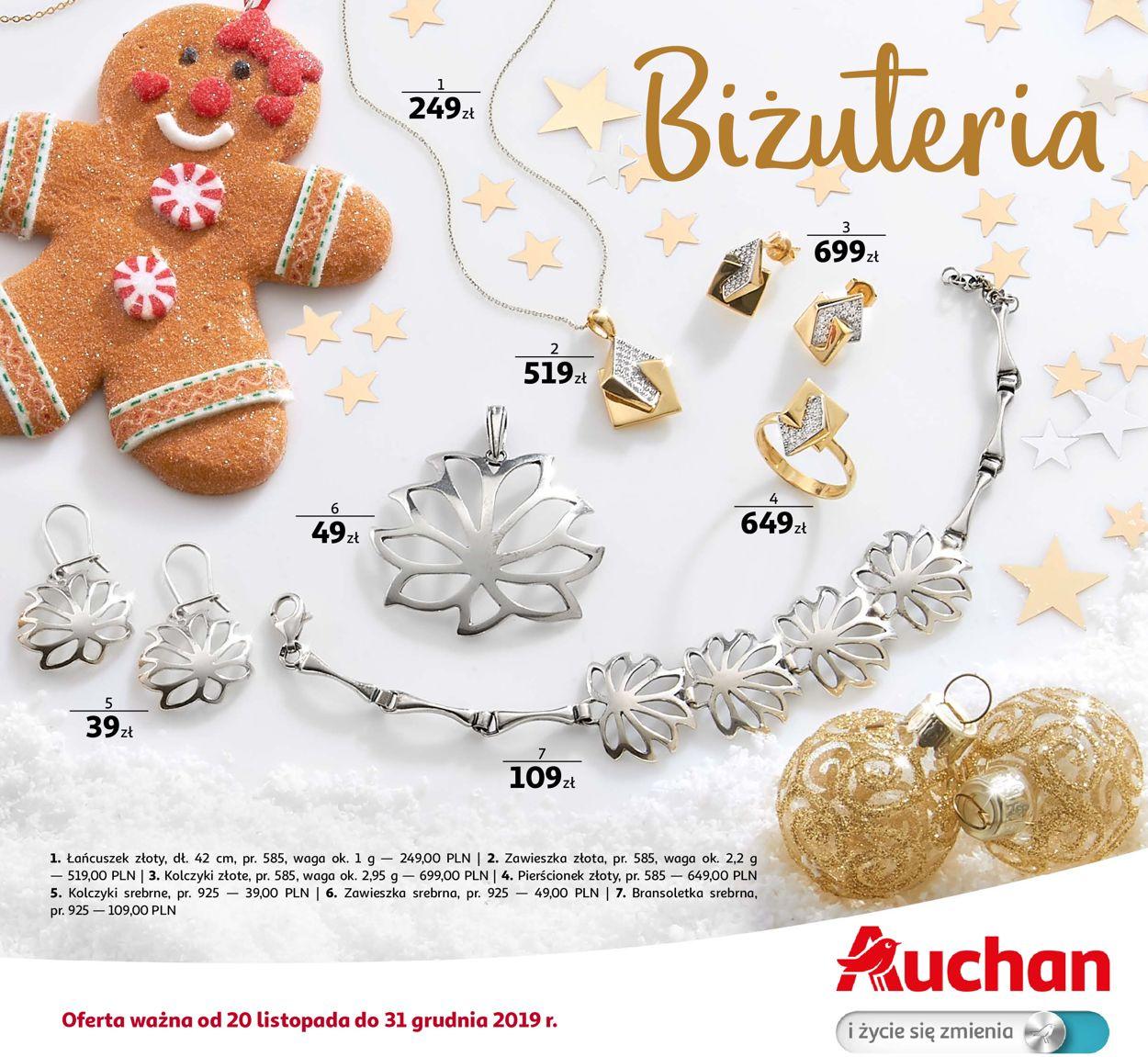 Gazetka promocyjna Auchan - Biżuteria - 20.11-31.12.2019