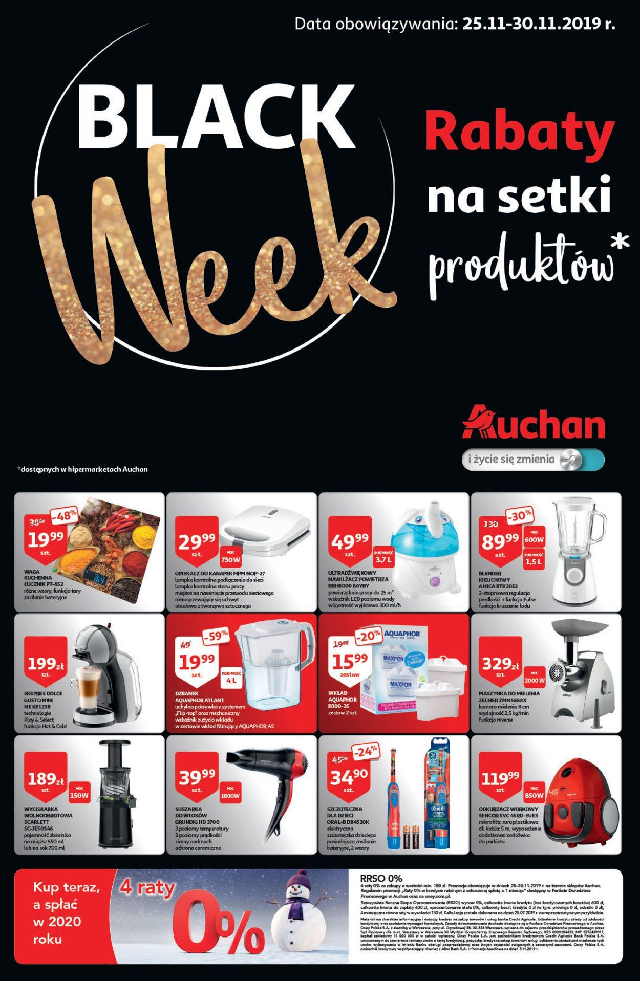 Gazetka promocyjna Auchan - Black Week 2019 - 25.11-30.11.2019