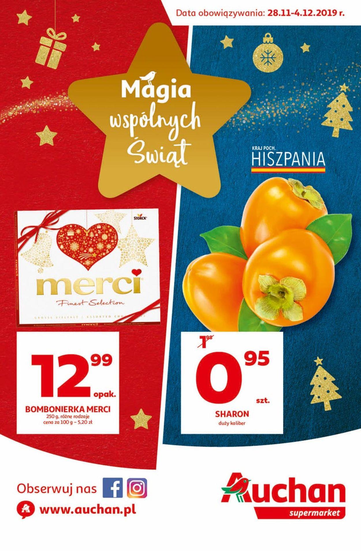 Gazetka promocyjna Auchan - Gazetka Świąteczna 2019 - 28.11-04.12.2019
