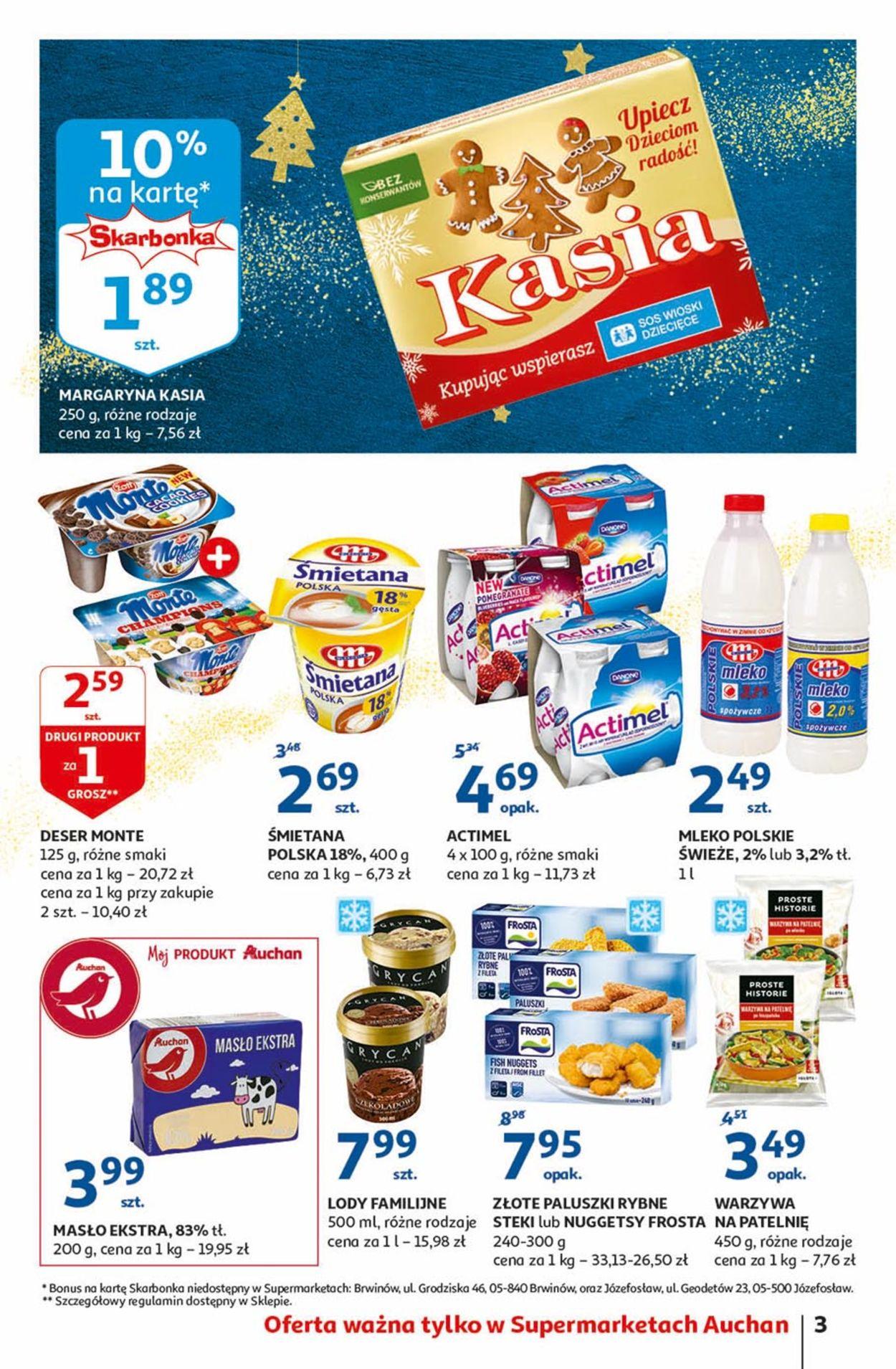 Gazetka promocyjna Auchan - Gazetka Świąteczna 2019 - 28.11-04.12.2019 (Strona 3)