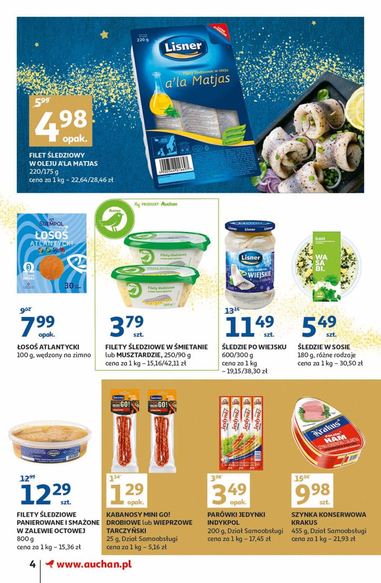 Gazetka promocyjna Auchan - Gazetka Świąteczna 2019 - 28.11-04.12.2019 (Strona 4)