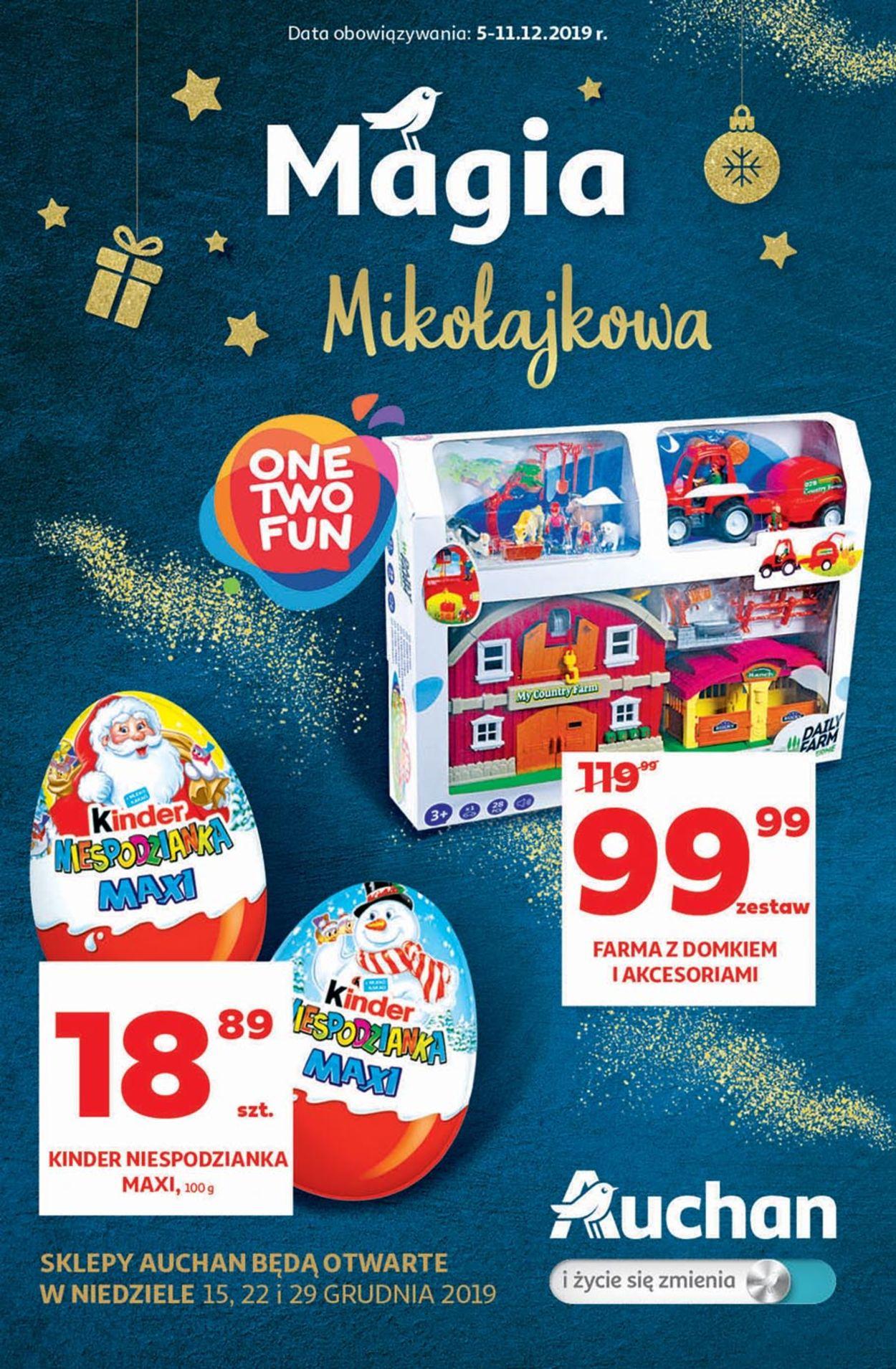 Gazetka promocyjna Auchan - Gazetka Mikołajkowa 2019 - 05.12-11.12.2019