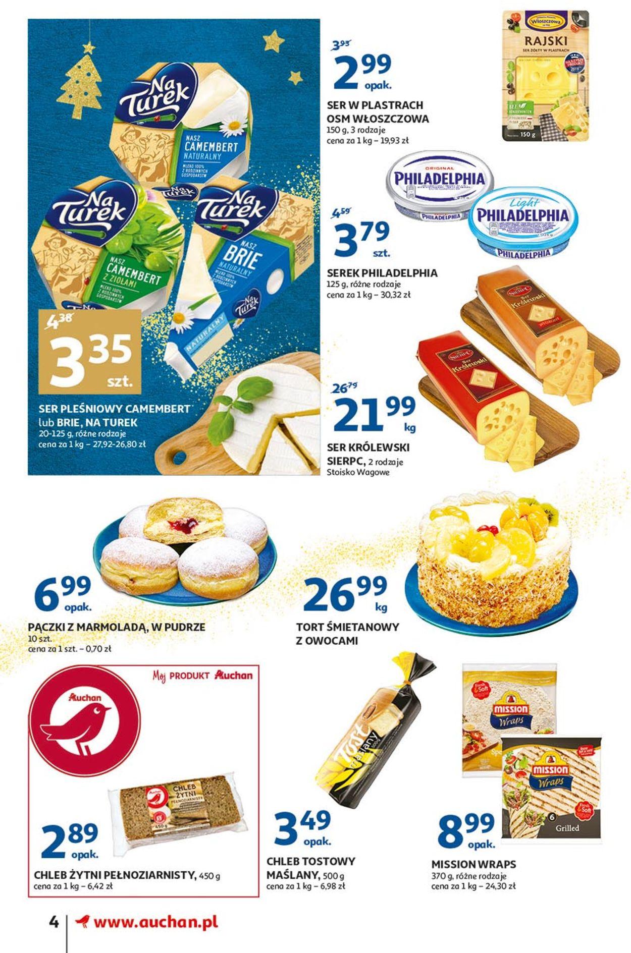 Gazetka promocyjna Auchan - Gazetka Świąteczna 2019 - 05.12-11.12.2019 (Strona 4)
