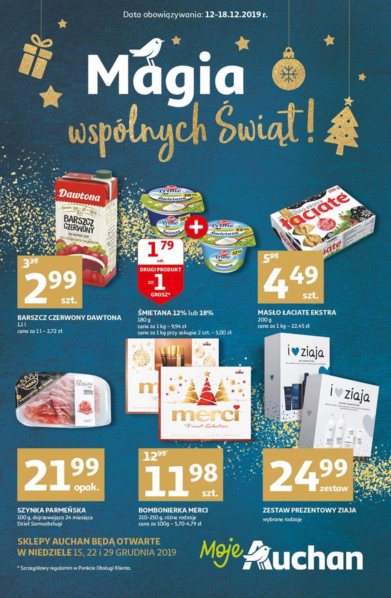 Gazetka promocyjna Auchan - Gazetka Świąteczna 2019 - 12.12-18.12.2019