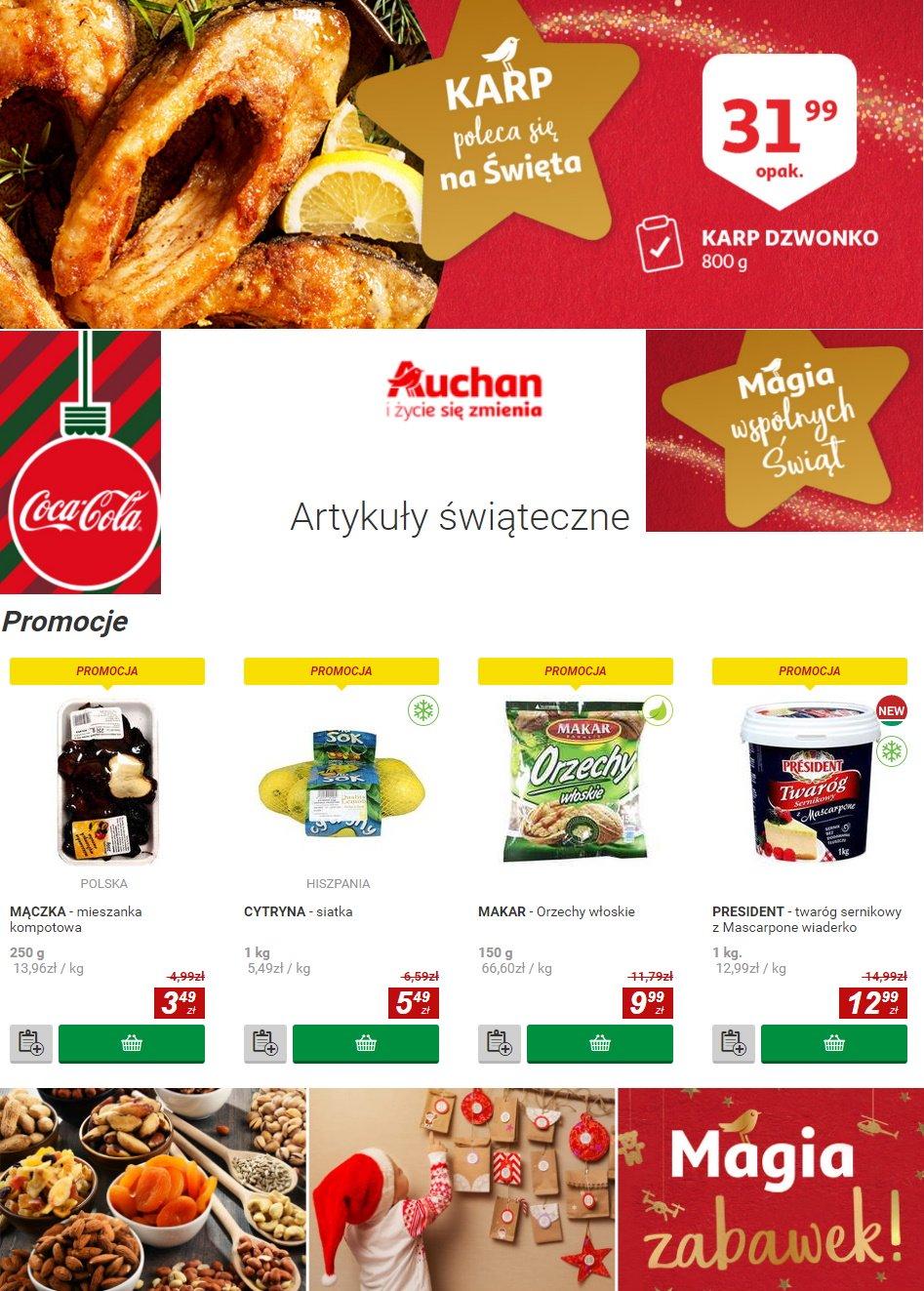 Gazetka promocyjna Auchan - Gazetka Świąteczna 2019 - 20.12-27.12.2019