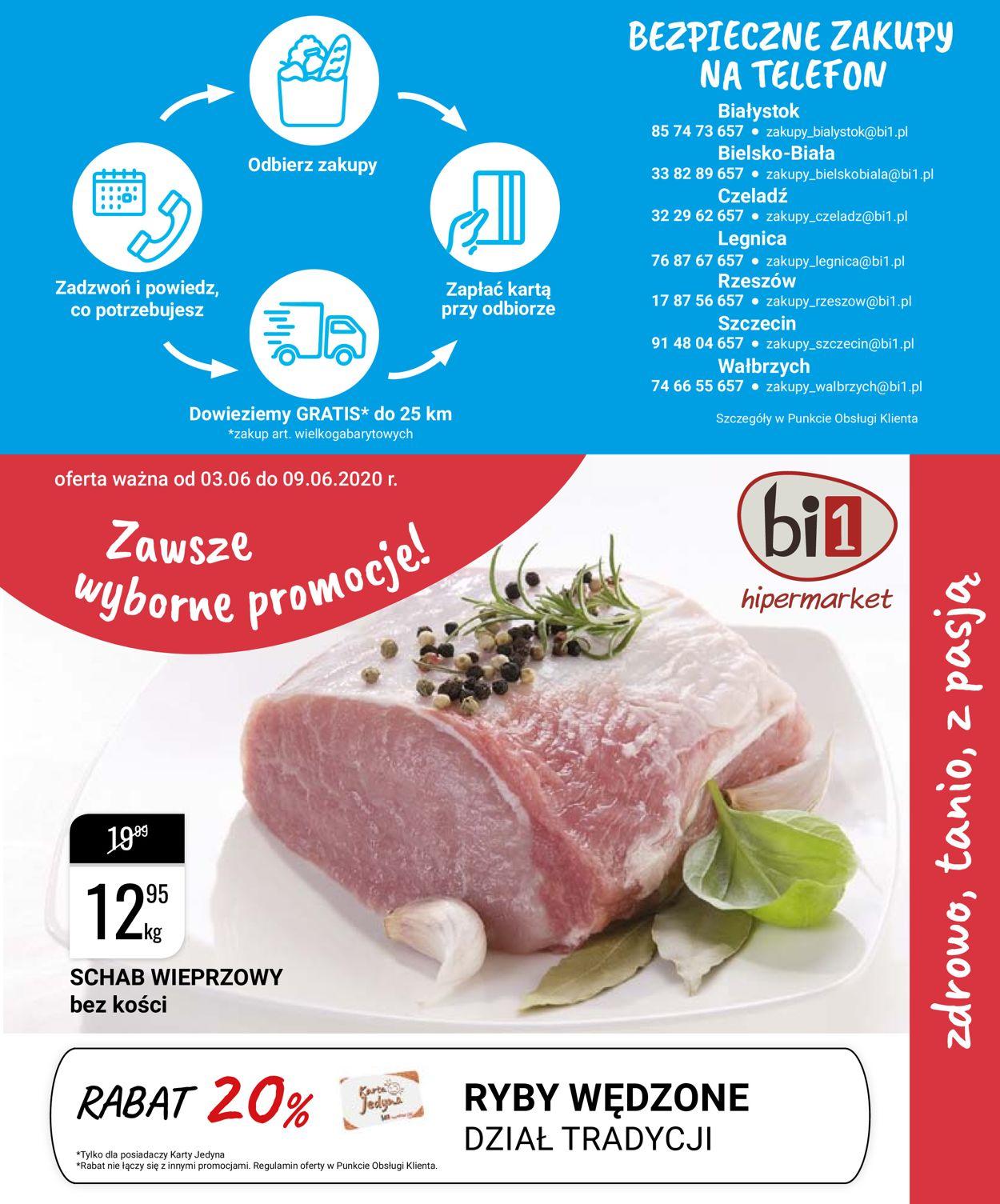 Gazetka promocyjna bi1 - 03.06-09.06.2020