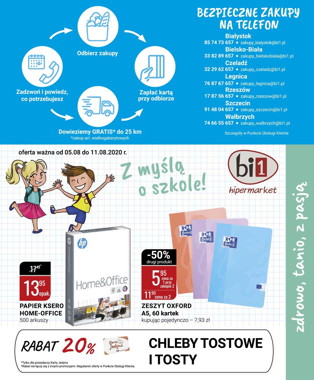 Gazetka promocyjna bi1 - 05.08-11.08.2020