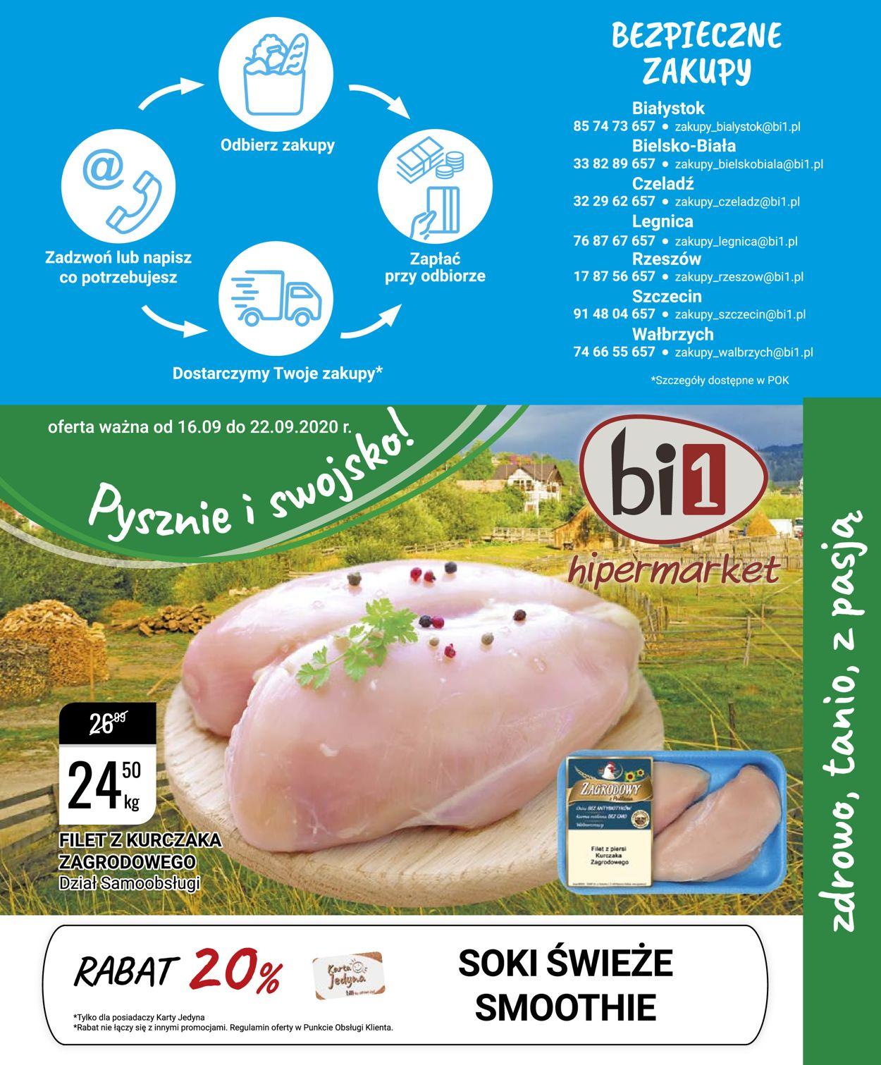 Gazetka promocyjna bi1 - 16.09-22.09.2020