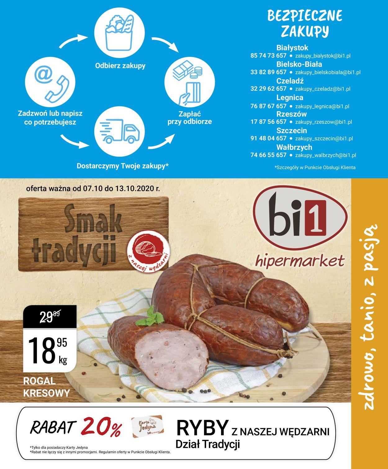 Gazetka promocyjna bi1 - 07.10-13.10.2020
