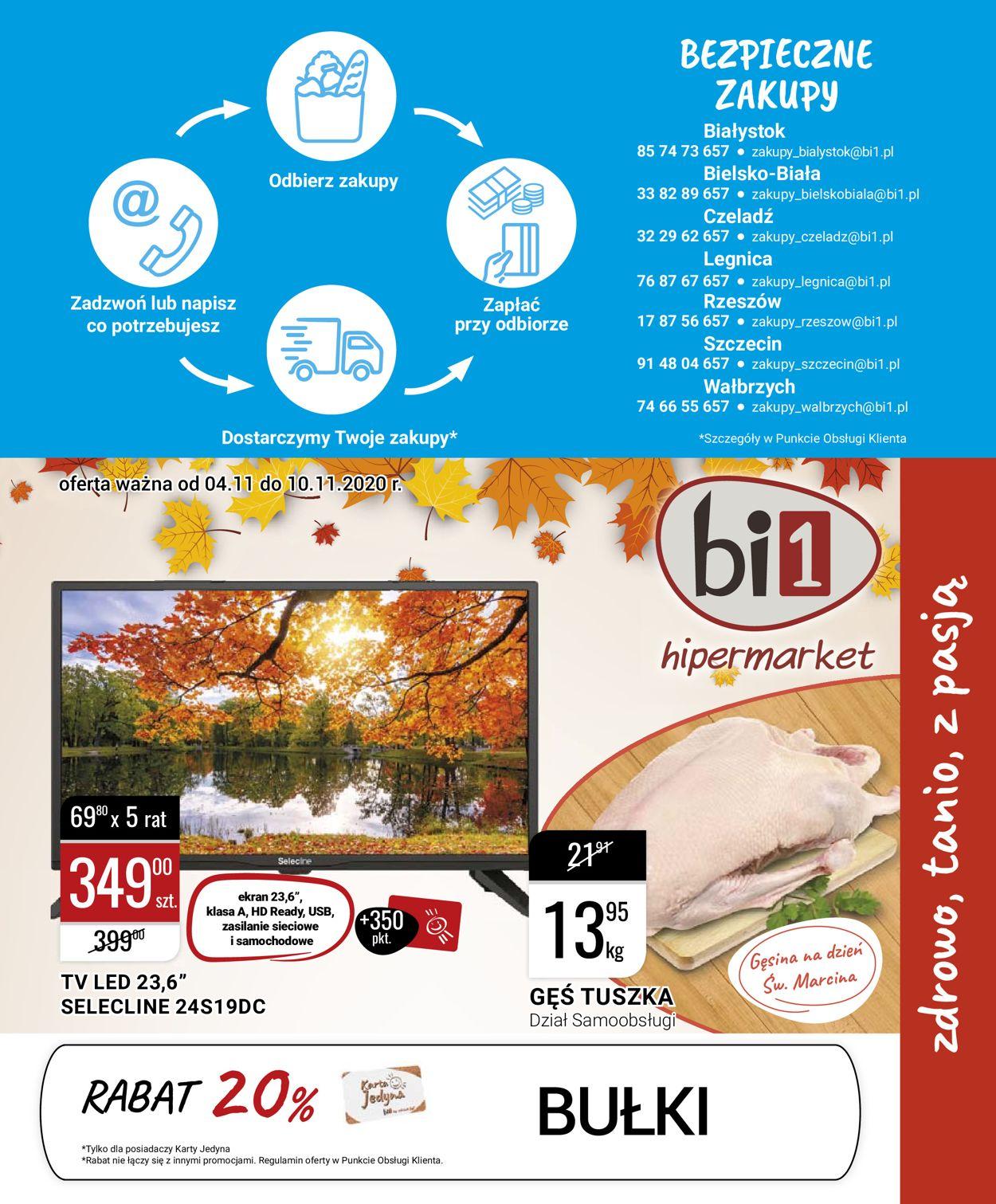Gazetka promocyjna bi1 - 04.11-10.11.2020
