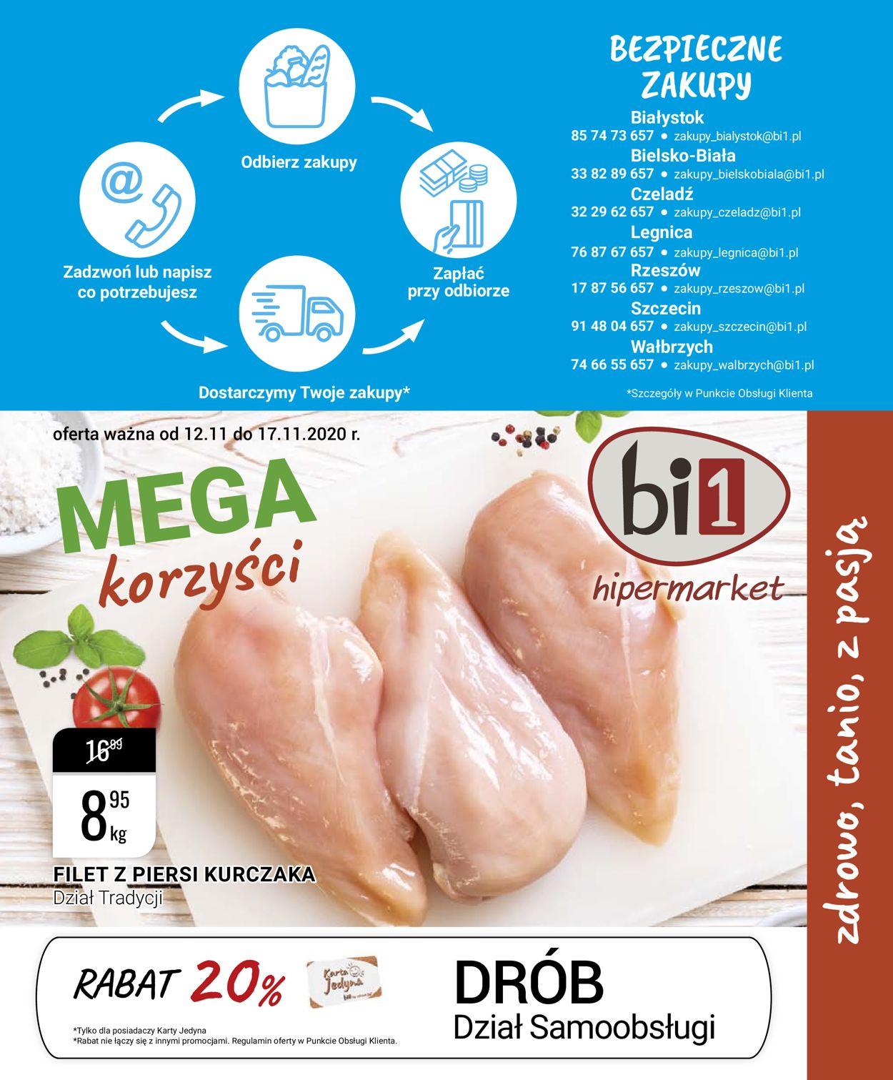 Gazetka promocyjna bi1 - 12.11-17.11.2020