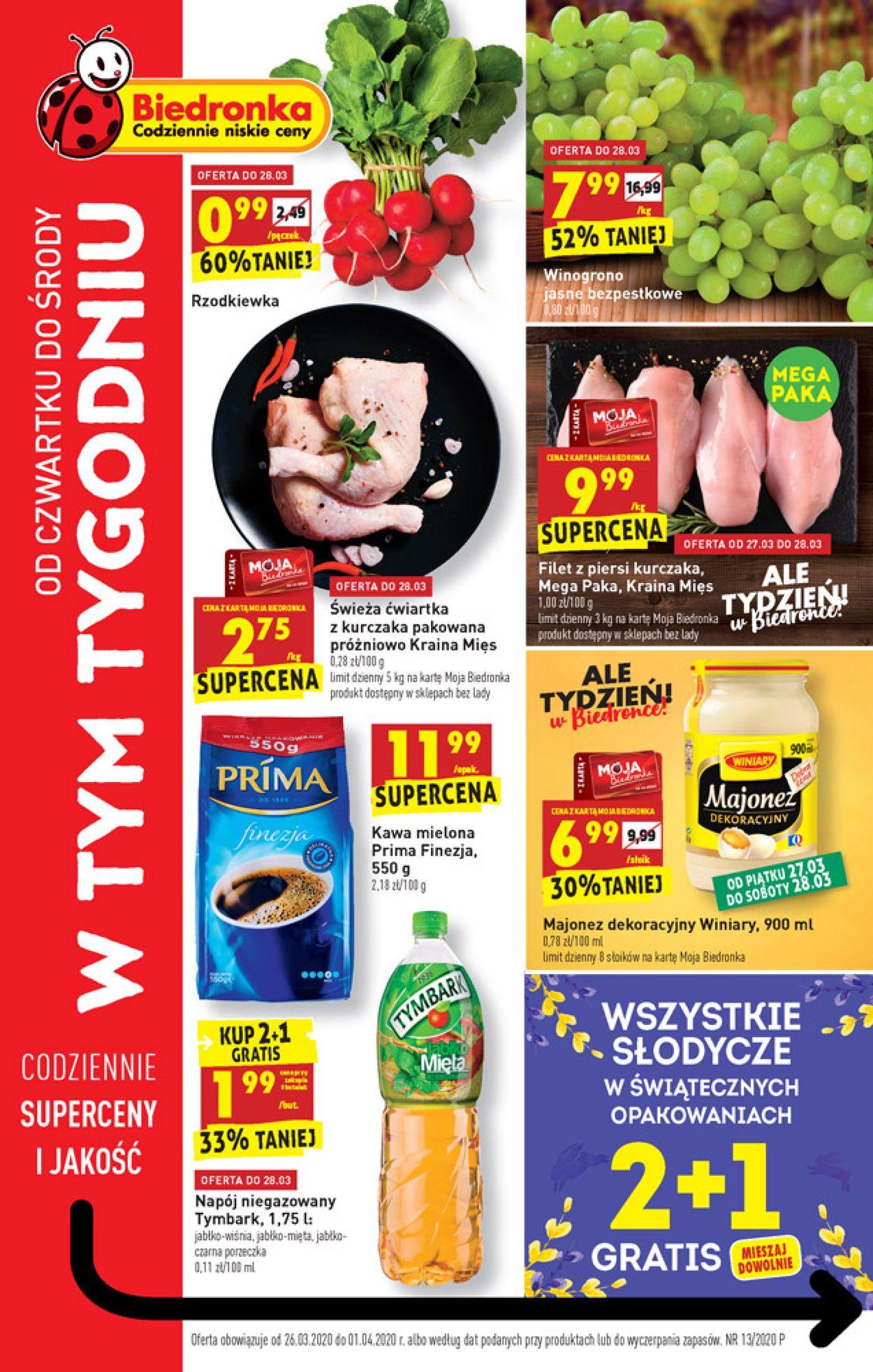 Gazetka promocyjna Biedronka - 26.03-01.04.2020