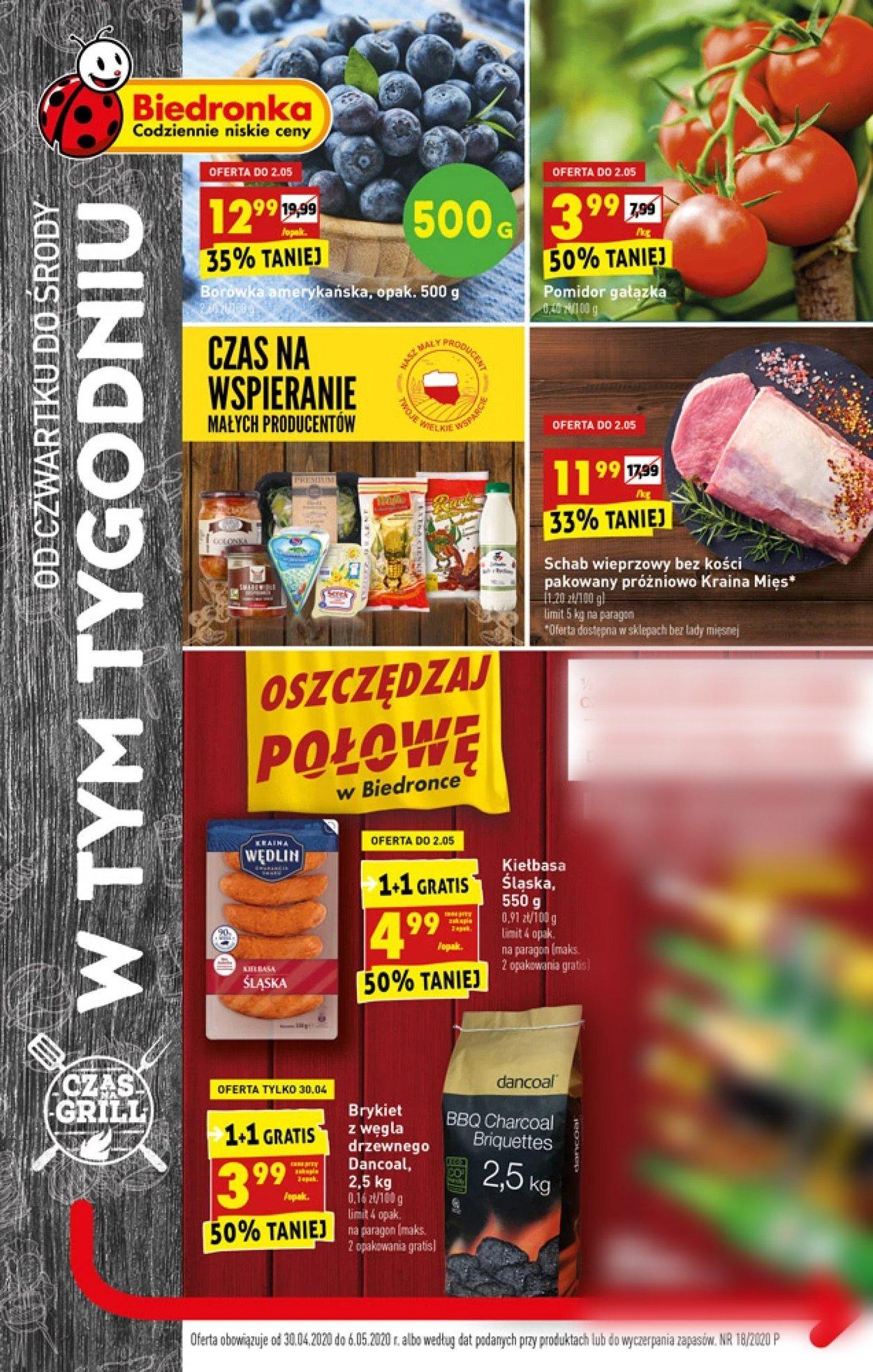 Gazetka promocyjna Biedronka - 30.04-06.05.2020