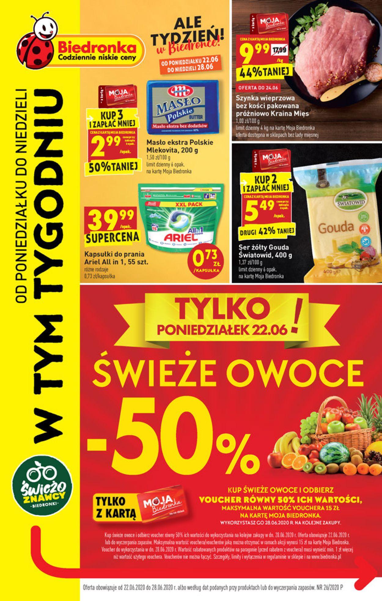 Gazetka promocyjna Biedronka - 22.06-28.06.2020