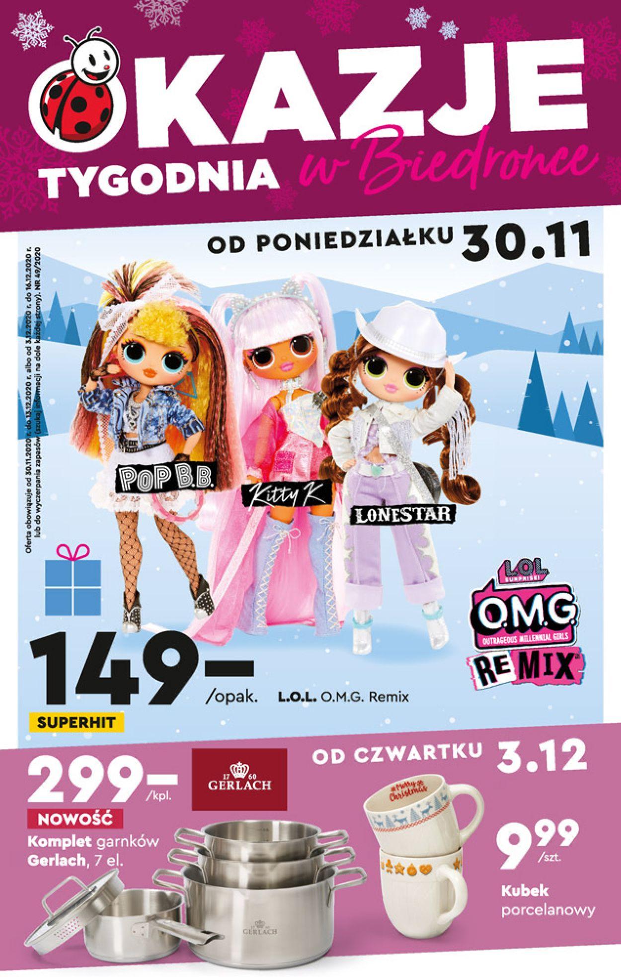 Gazetka promocyjna Biedronka - 30.11-16.12.2020