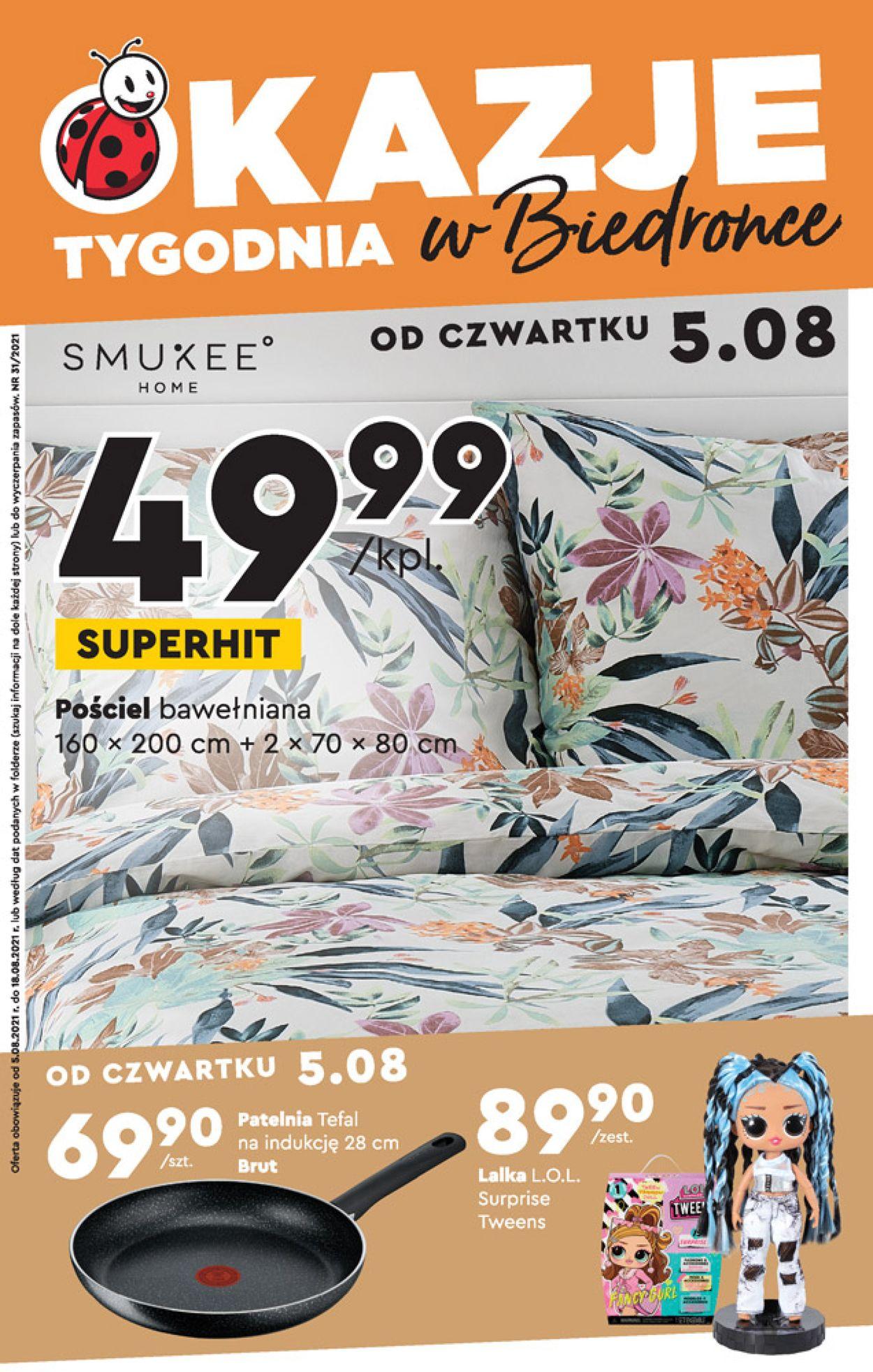 Gazetka promocyjna Biedronka - 05.08-12.08.2021