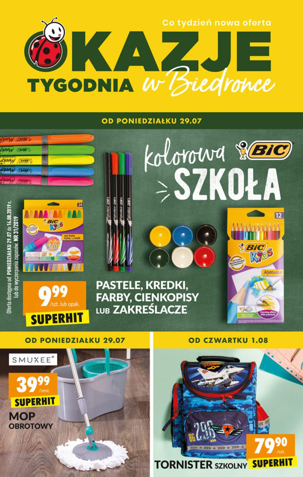 Gazetka promocyjna Biedronka - 29.07-14.08.2019