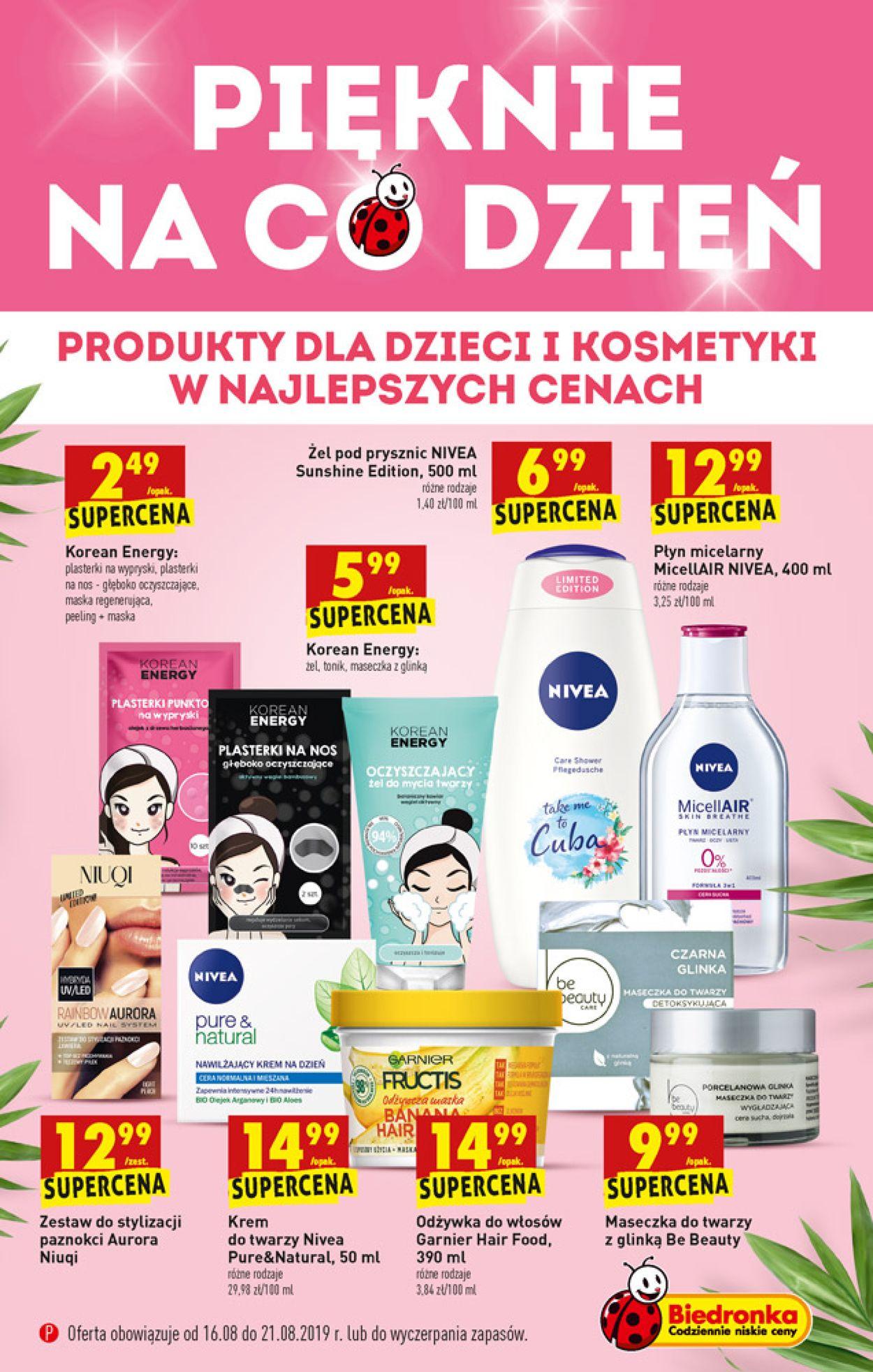 Gazetka promocyjna Biedronka - 16.08-21.08.2019